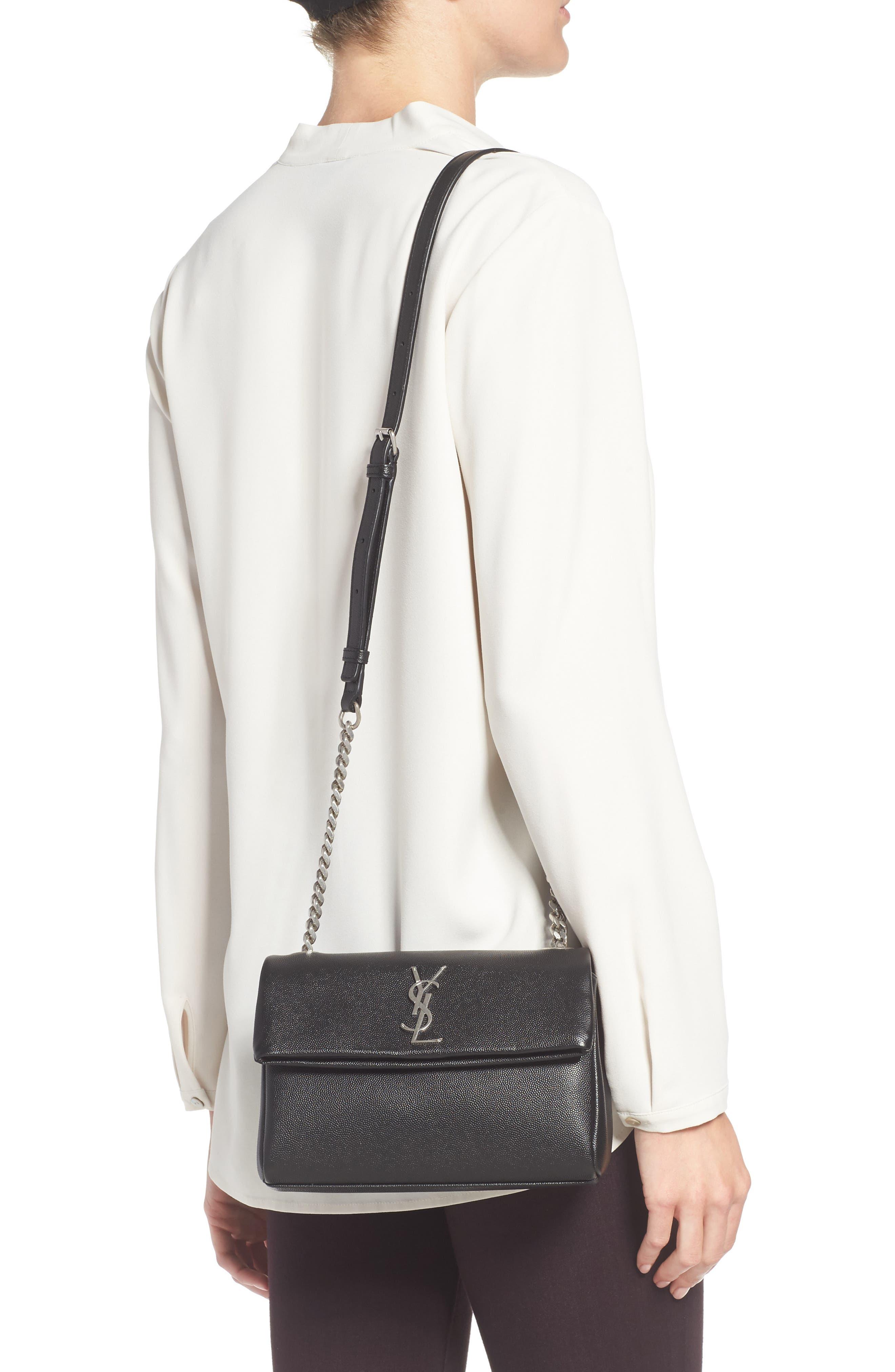 West Hollywood Calfskin Leather Messenger Bag,                             Alternate thumbnail 6, color,