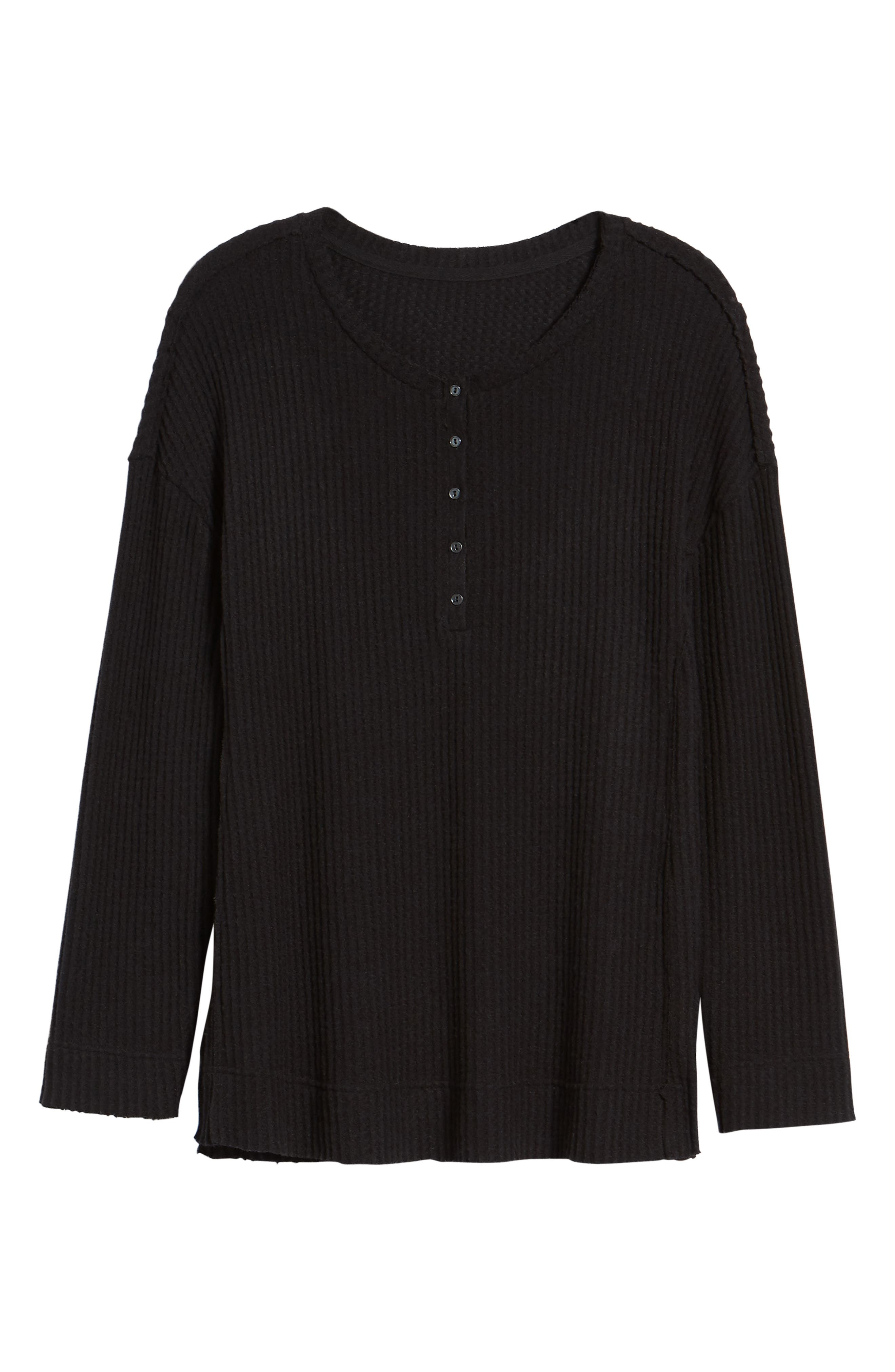 Thermal Henley Top,                             Alternate thumbnail 6, color,                             001