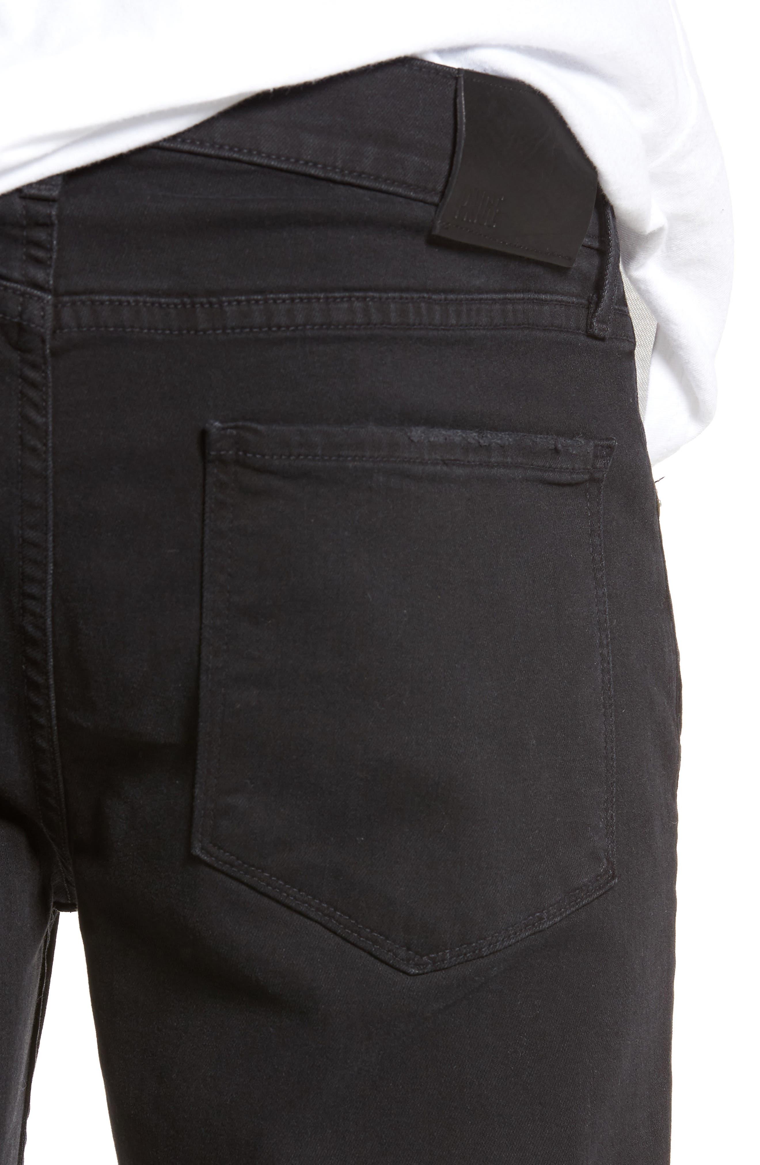 Transcend - Croft Skinny Fit Jeans,                             Alternate thumbnail 4, color,                             ADAM DESTRUCTED