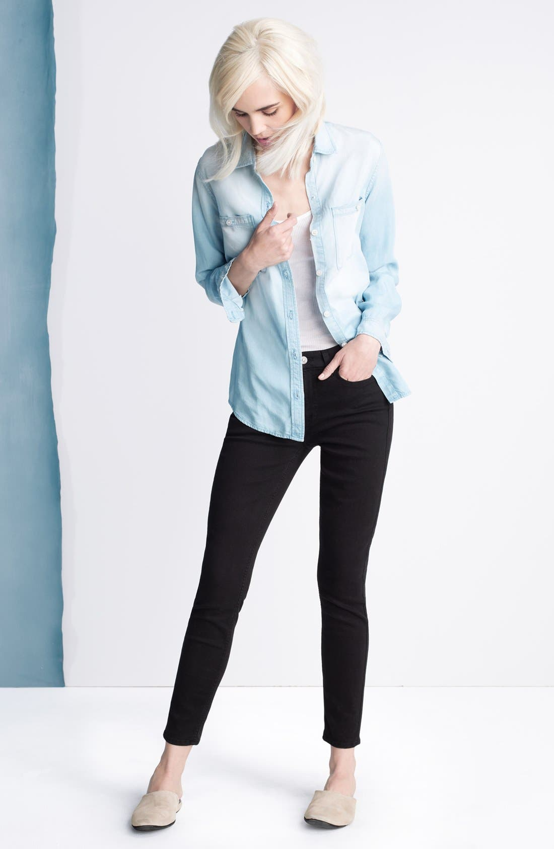 b(air) Ankle Skinny Jeans,                             Alternate thumbnail 4, color,                             004