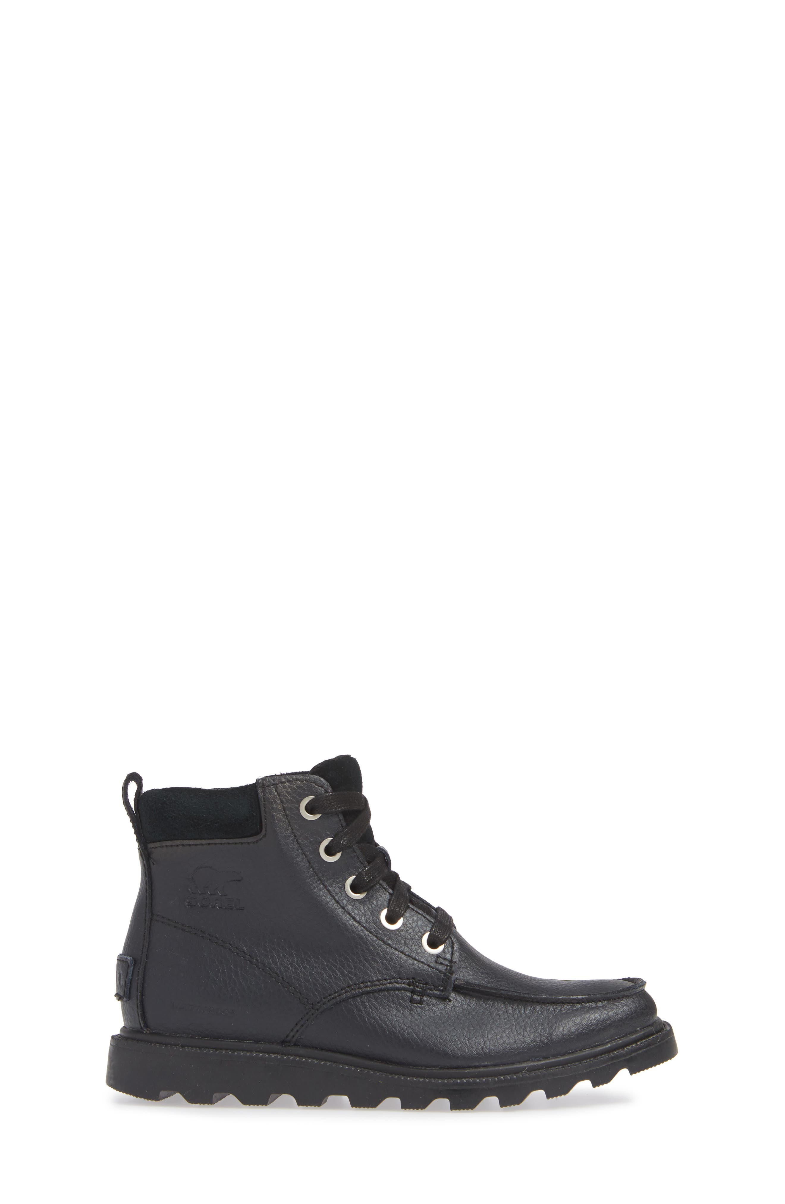 Madson Waterproof Moc Toe Boot,                             Alternate thumbnail 3, color,                             BLACK