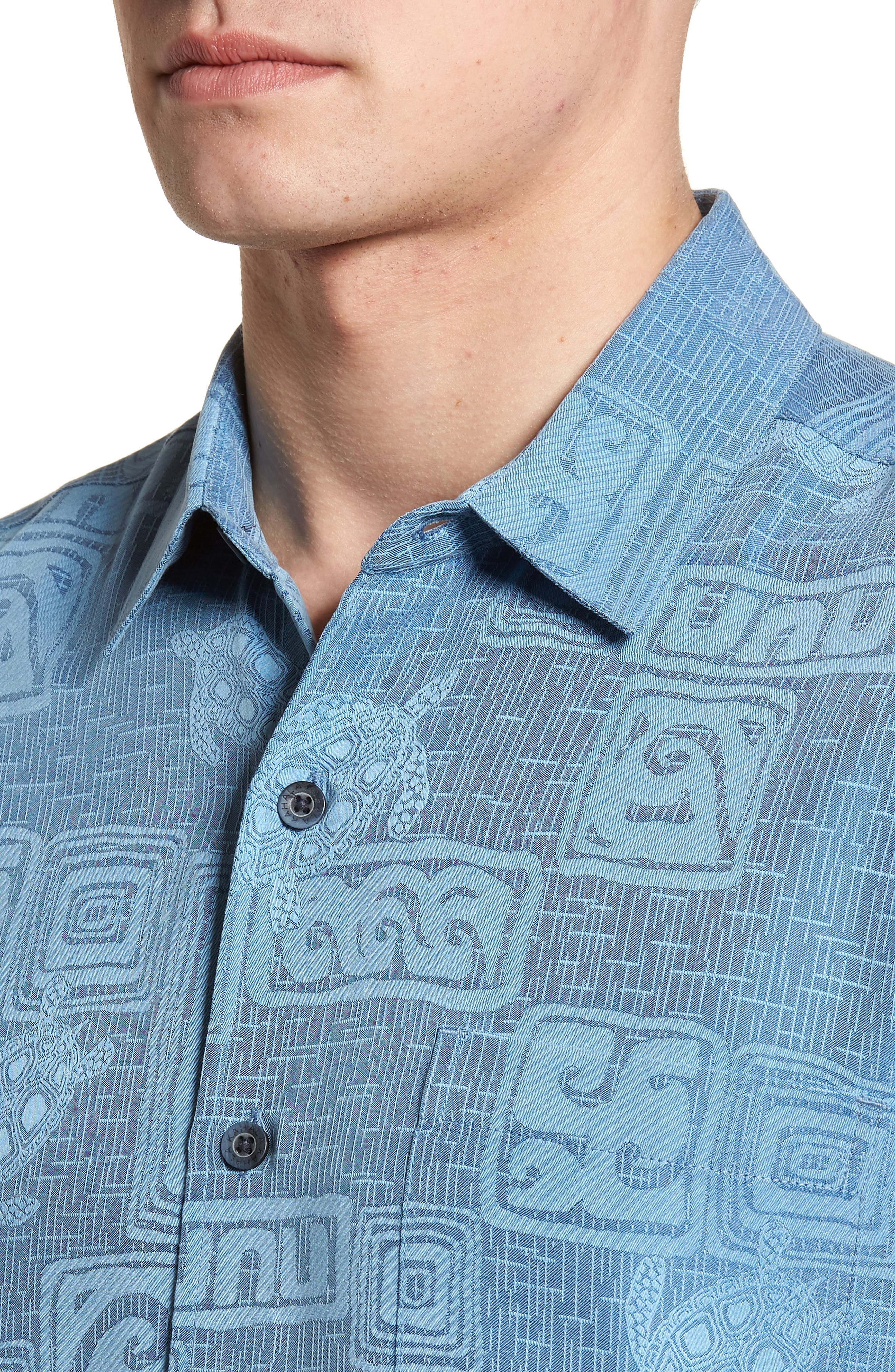 Sea Shells Classic Fit Sport Shirt,                             Alternate thumbnail 12, color,