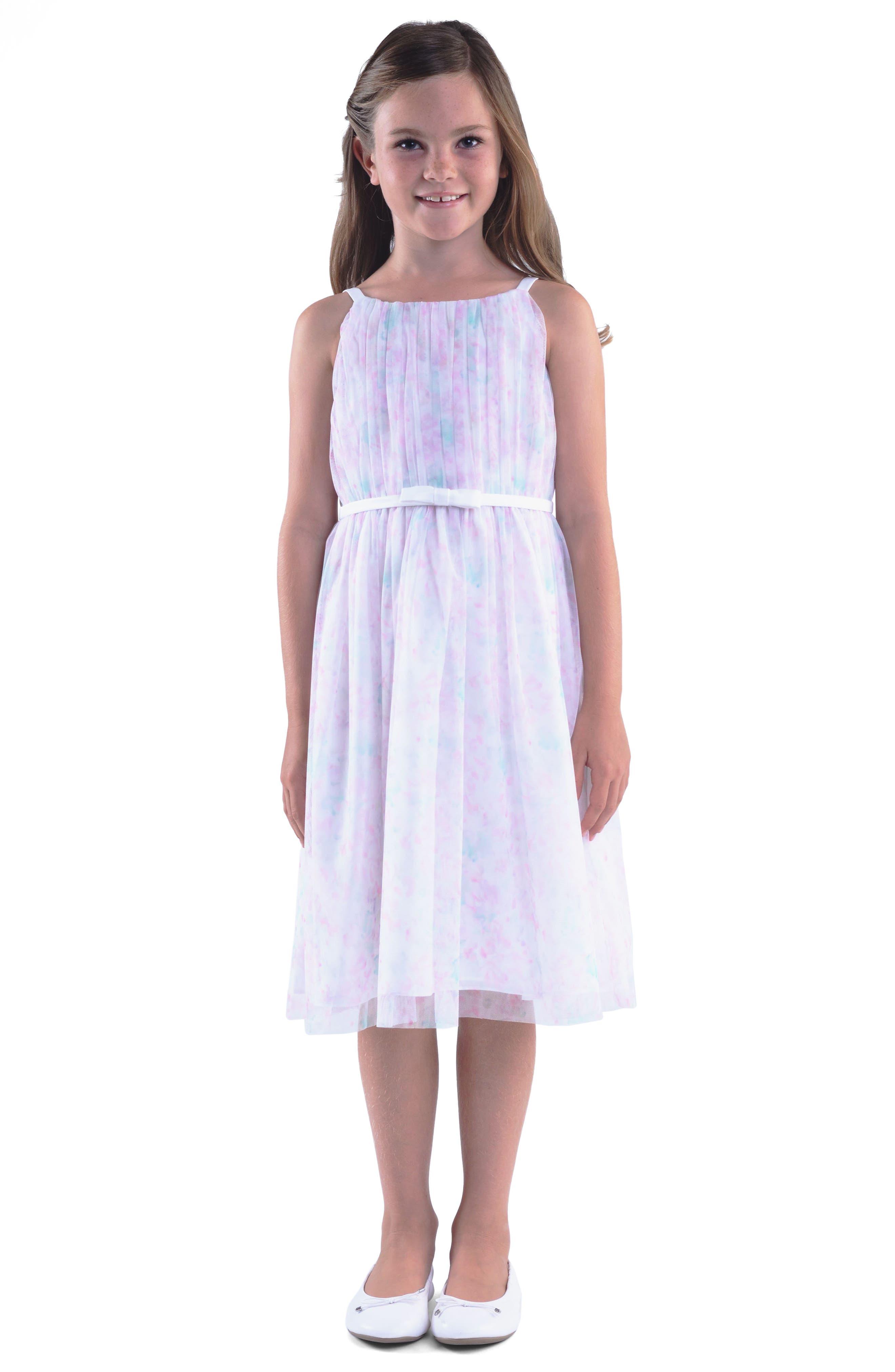 Floral Print Sleeveless Dress,                             Main thumbnail 1, color,                             650
