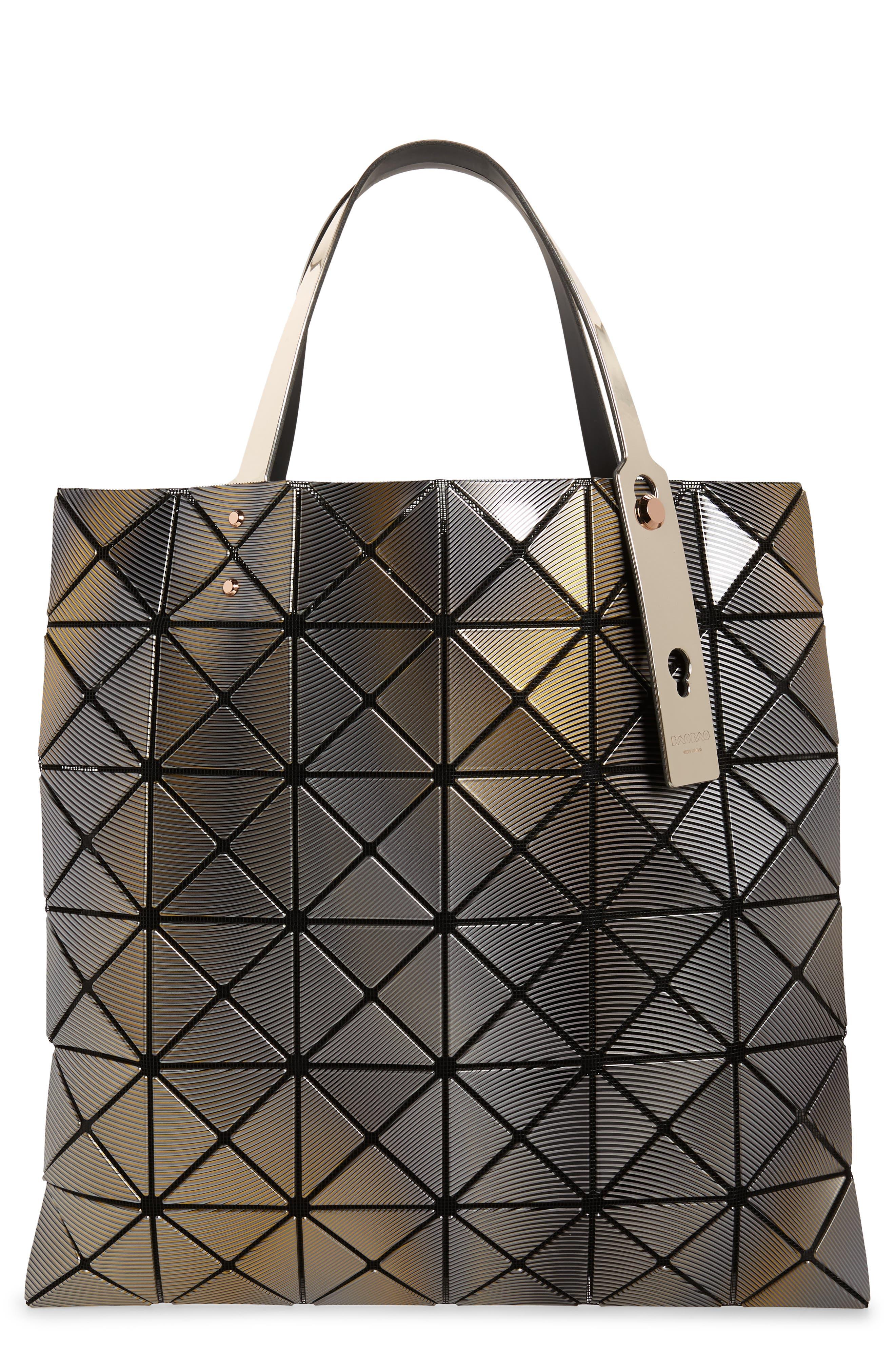 BAO BAO ISSEY MIYAKE,                             Phase Prism Tote Bag,                             Main thumbnail 1, color,                             GOLD