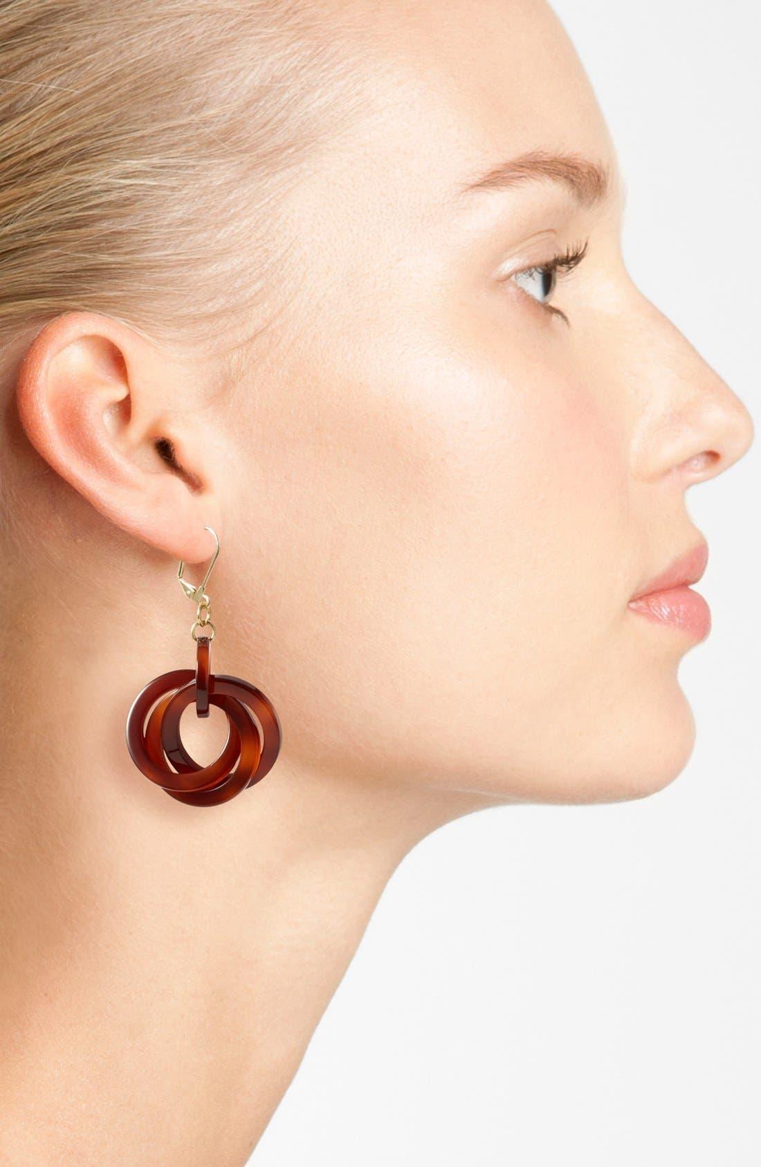 'Twisted Loops' Drop Earrings,                             Alternate thumbnail 10, color,