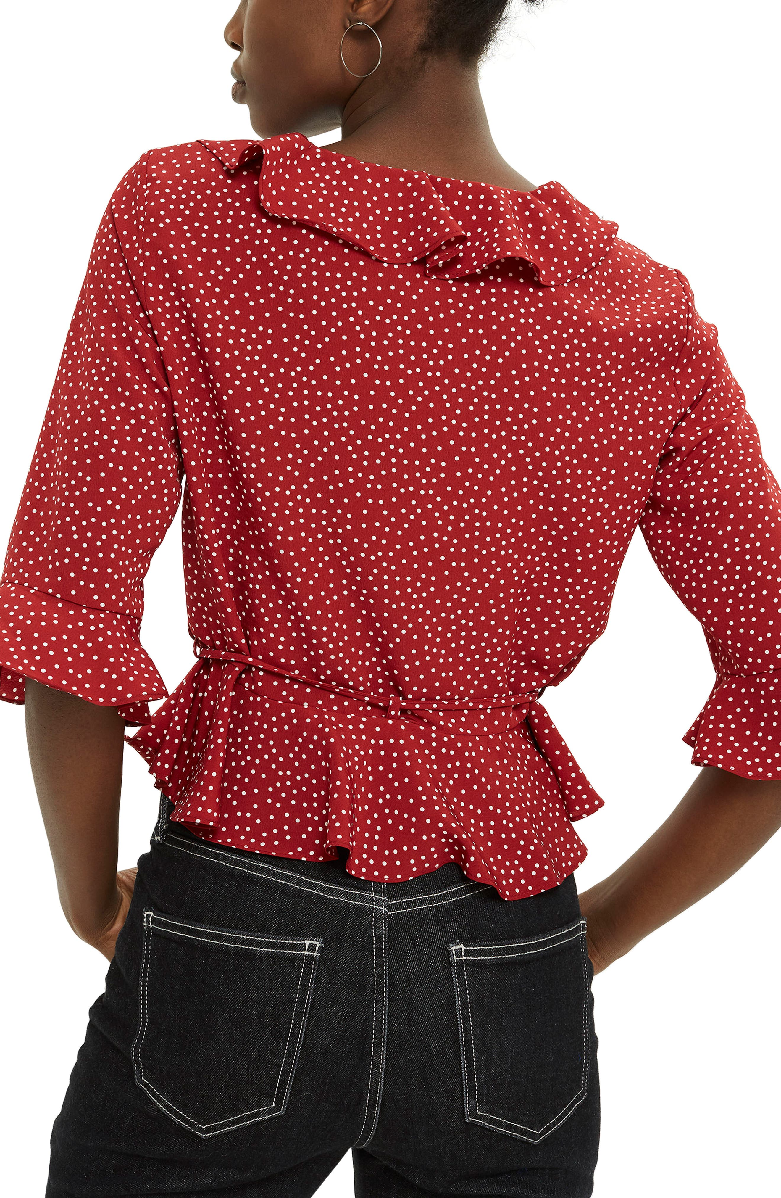 Phoebe Frilly Blouse,                             Alternate thumbnail 12, color,