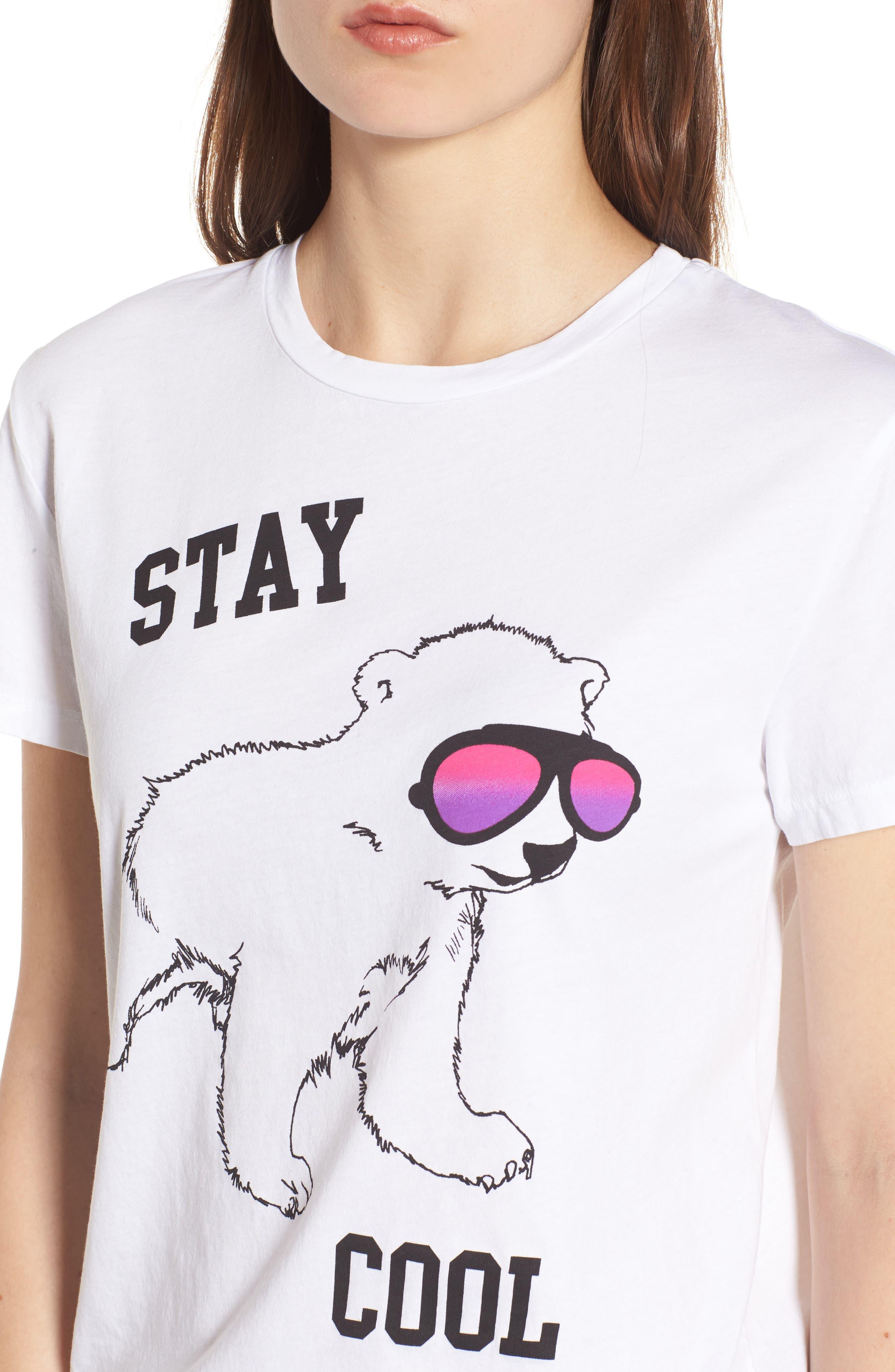 Stay Cool Polar Bear Tee,                             Alternate thumbnail 4, color,