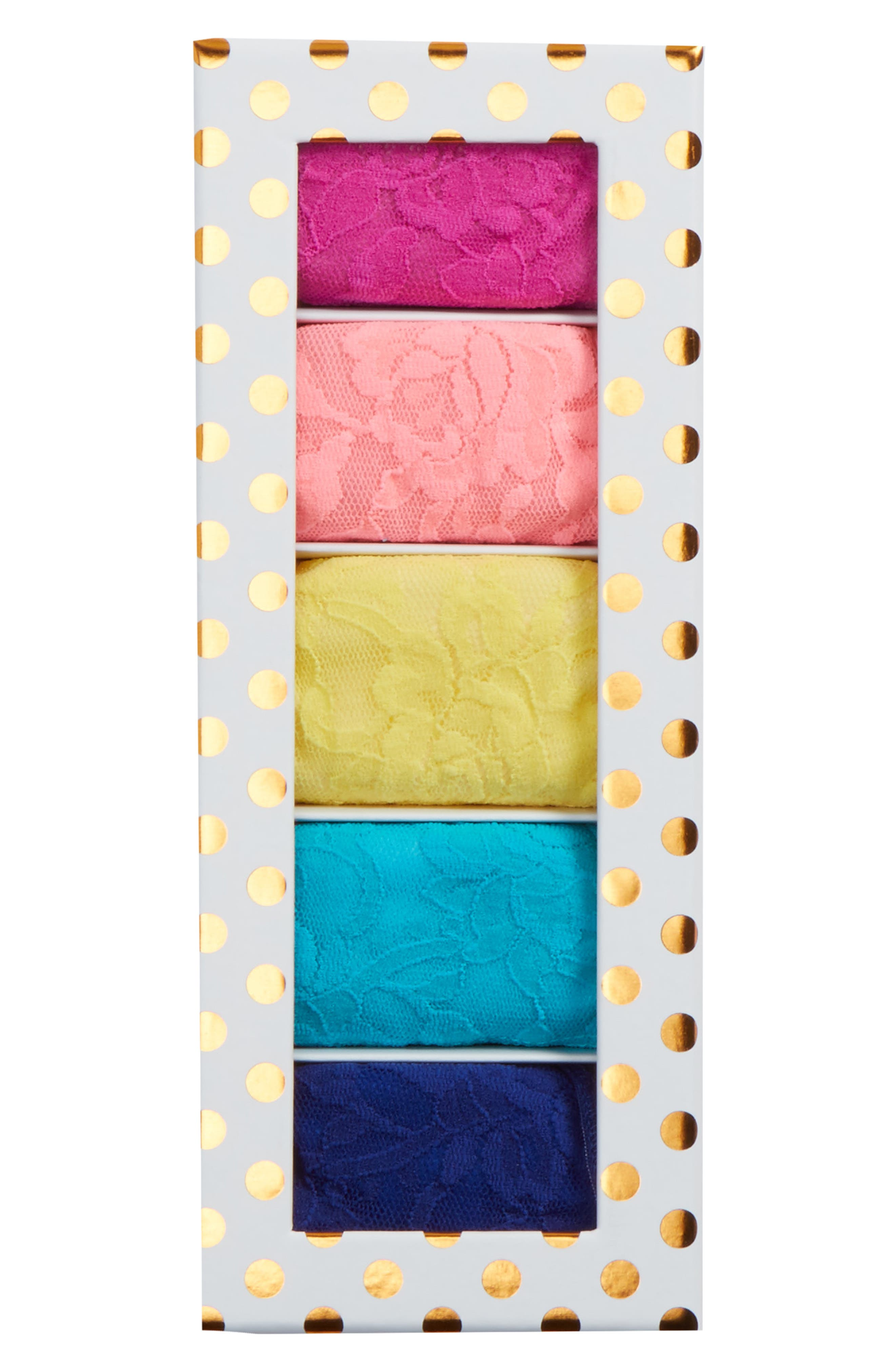 Dot 5-Pack Low Rise Thongs,                             Alternate thumbnail 3, color,