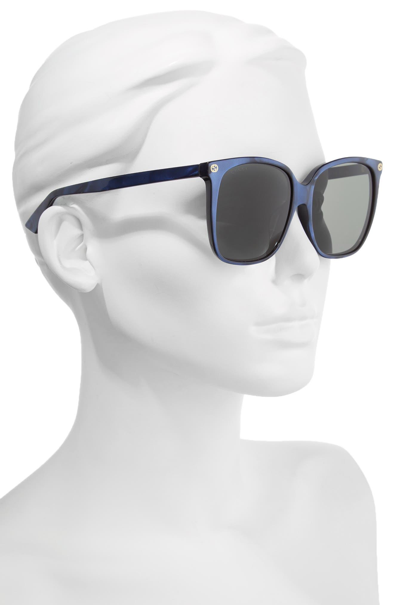 57mm Gradient Sunglasses,                             Alternate thumbnail 2, color,                             400