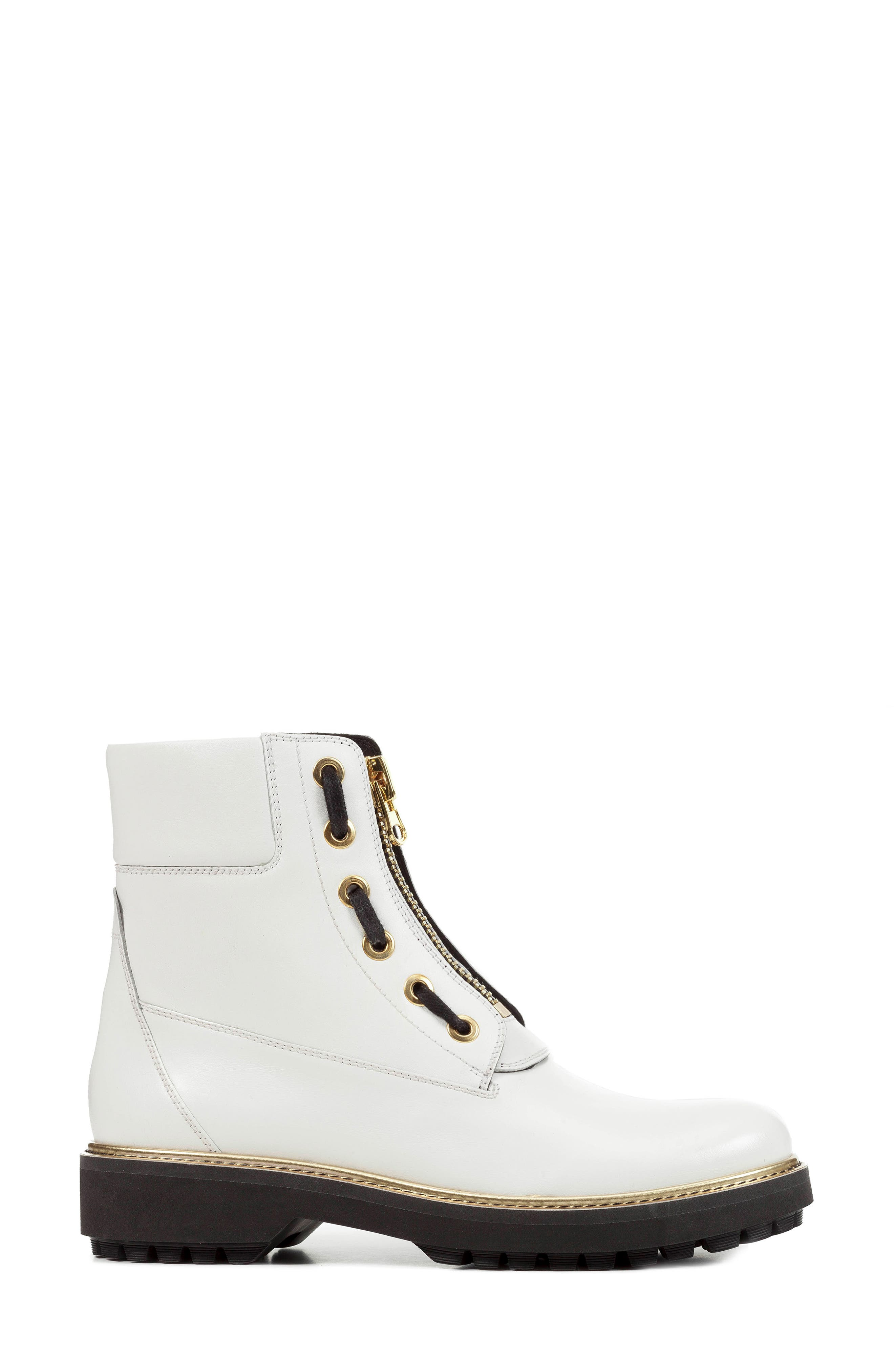 GEOX,                             Asheely Bootie,                             Alternate thumbnail 3, color,                             WHITE LEATHER