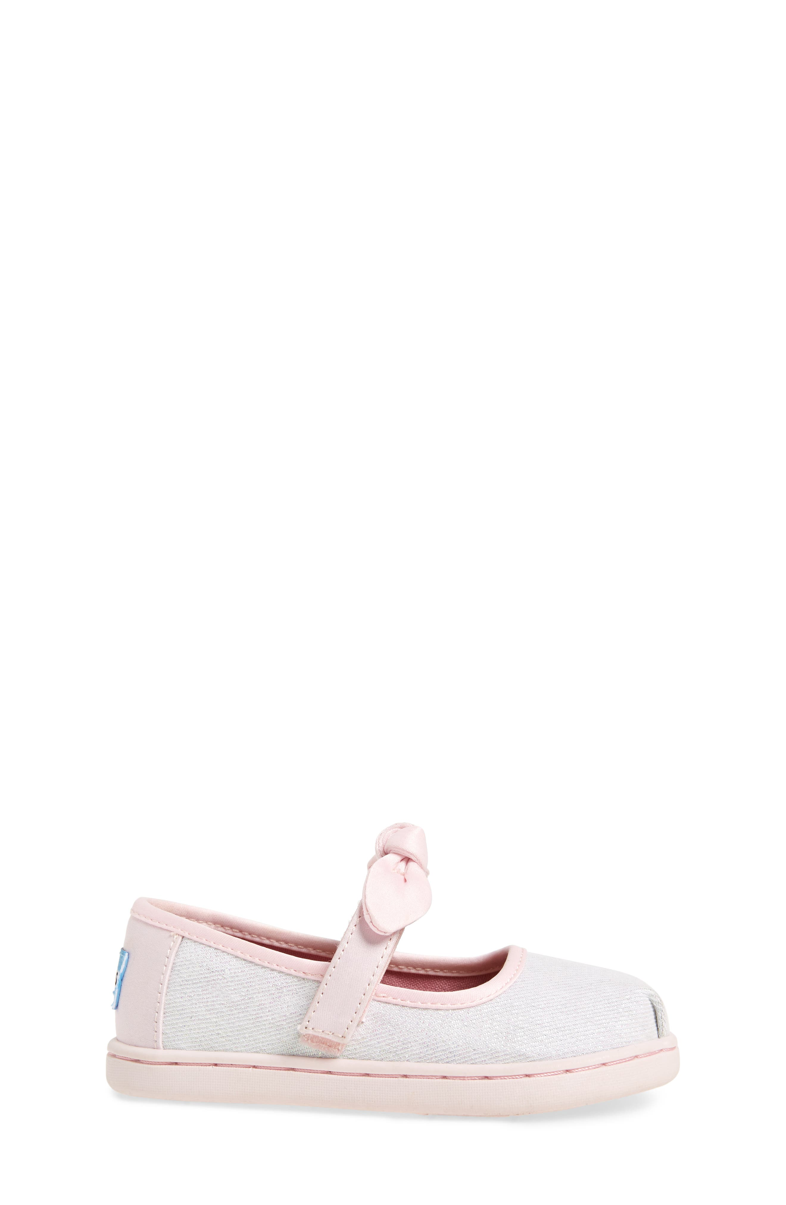 Bow Metallic Mary Jane Sneaker,                             Alternate thumbnail 3, color,                             IRIDESCENT TWILL GLIMMER