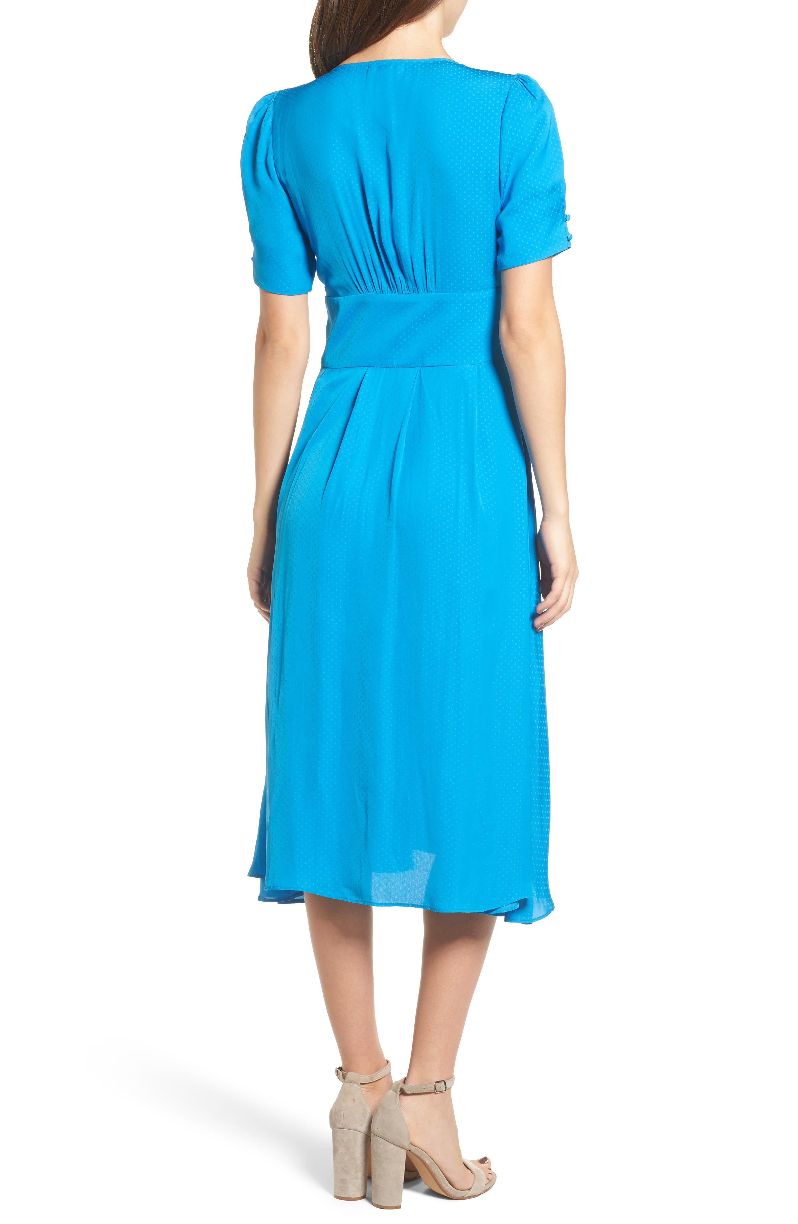 Textured Fit & Flare Midi Dress,                             Alternate thumbnail 2, color,                             420