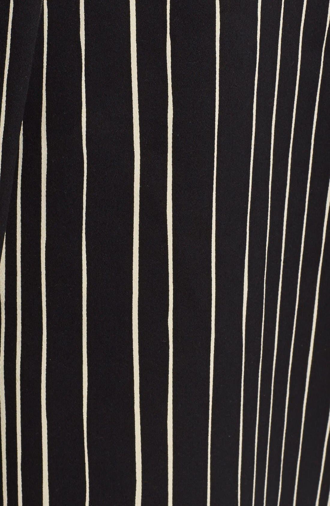 'Libby' Stripe Flared Skirt,                             Alternate thumbnail 5, color,