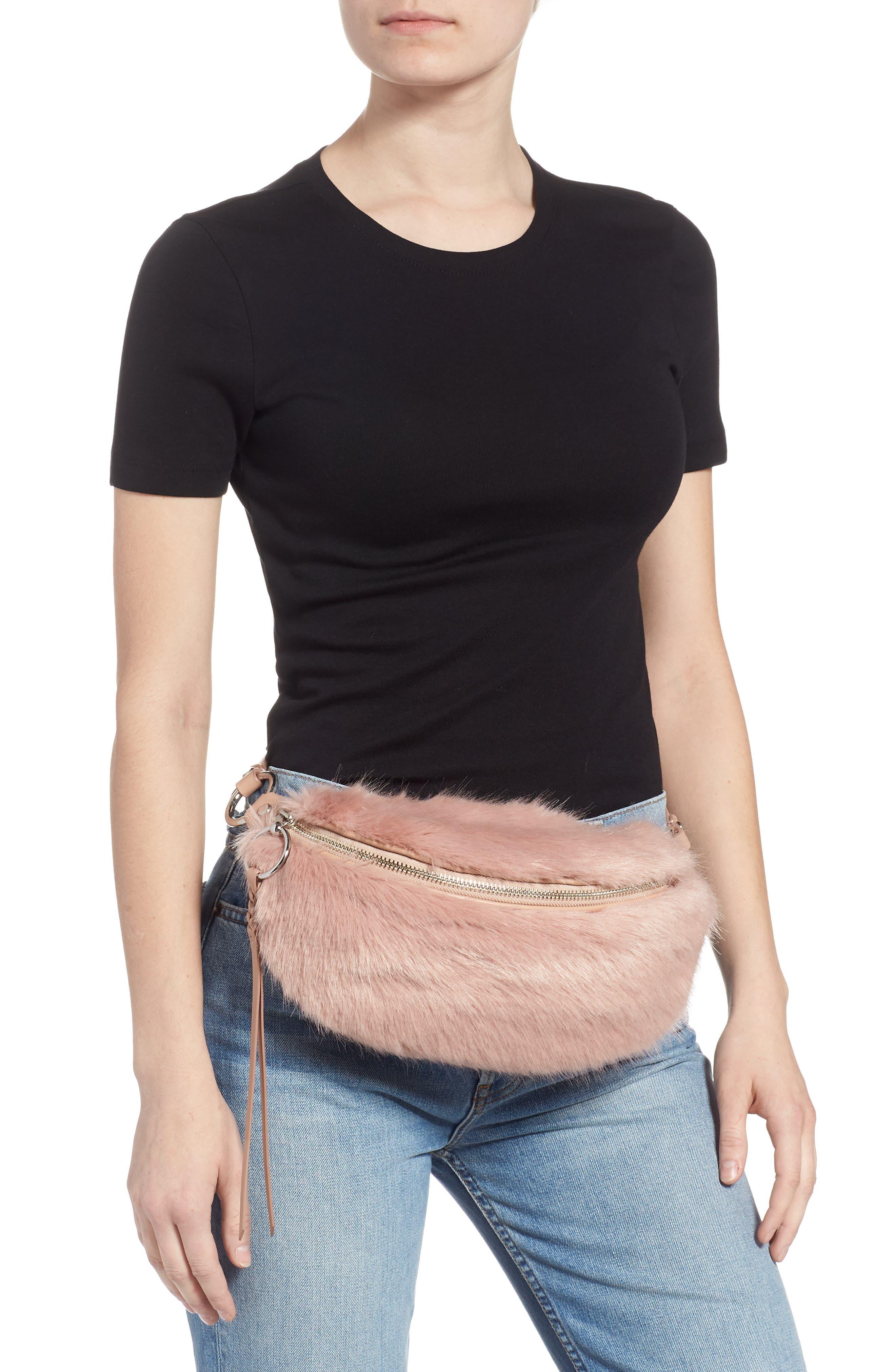 REBECCA MINKOFF,                             Faux Fur Belt Bag,                             Alternate thumbnail 2, color,                             250