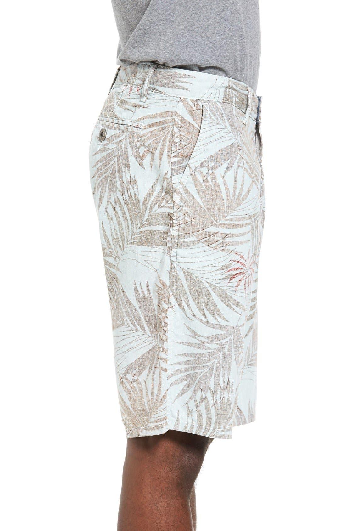 Havana Print Linen Shorts,                             Alternate thumbnail 6, color,
