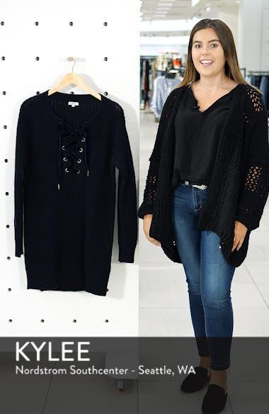 Nicole Velvet Tie Sweater Dress, sales video thumbnail
