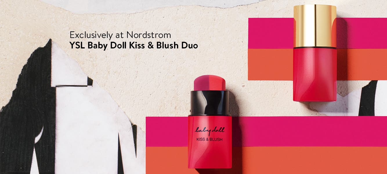 Two matte hues in one stick, for lips and cheeks.