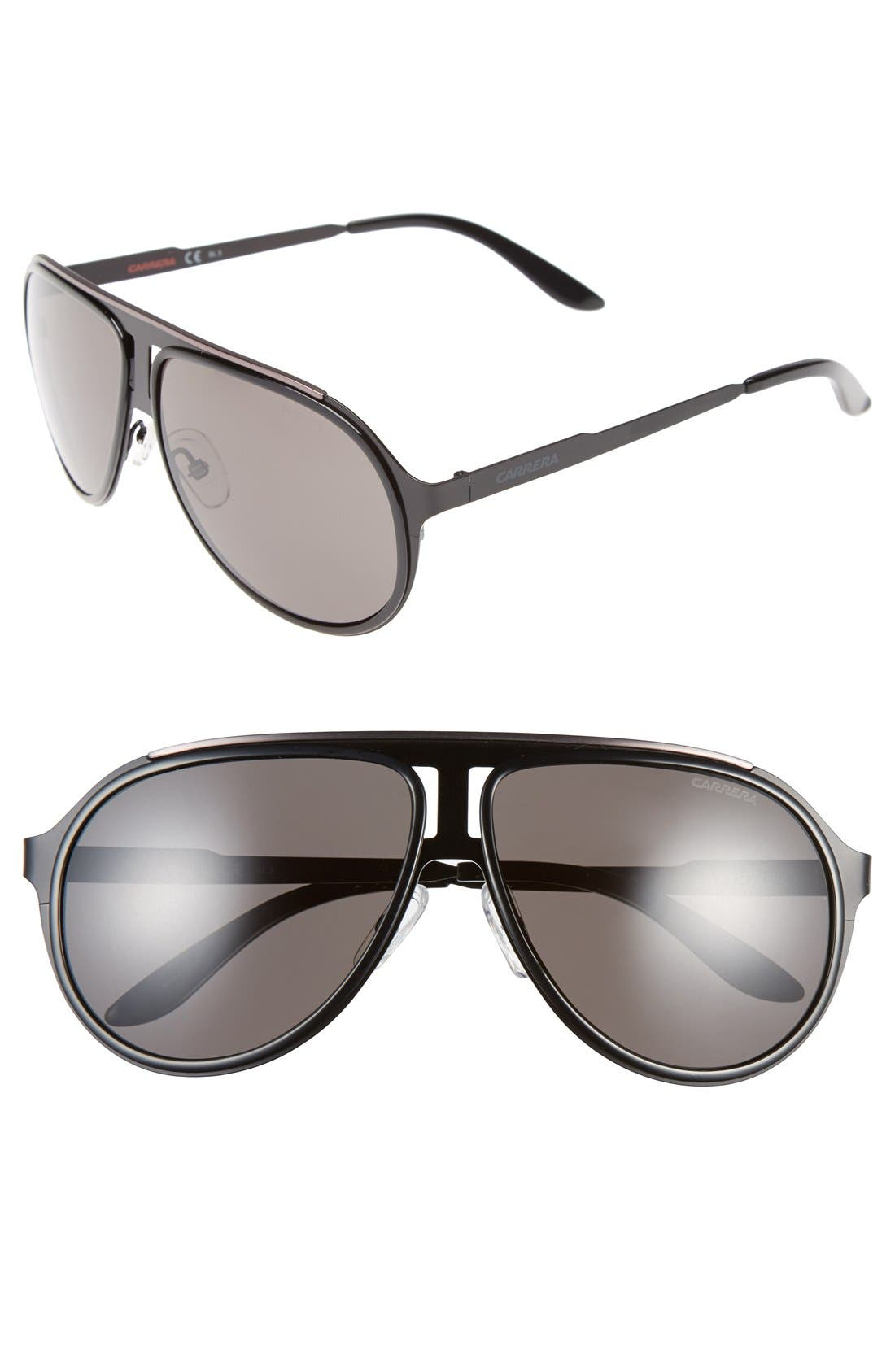 59mm Aviator Sunglasses,                             Main thumbnail 1, color,                             002