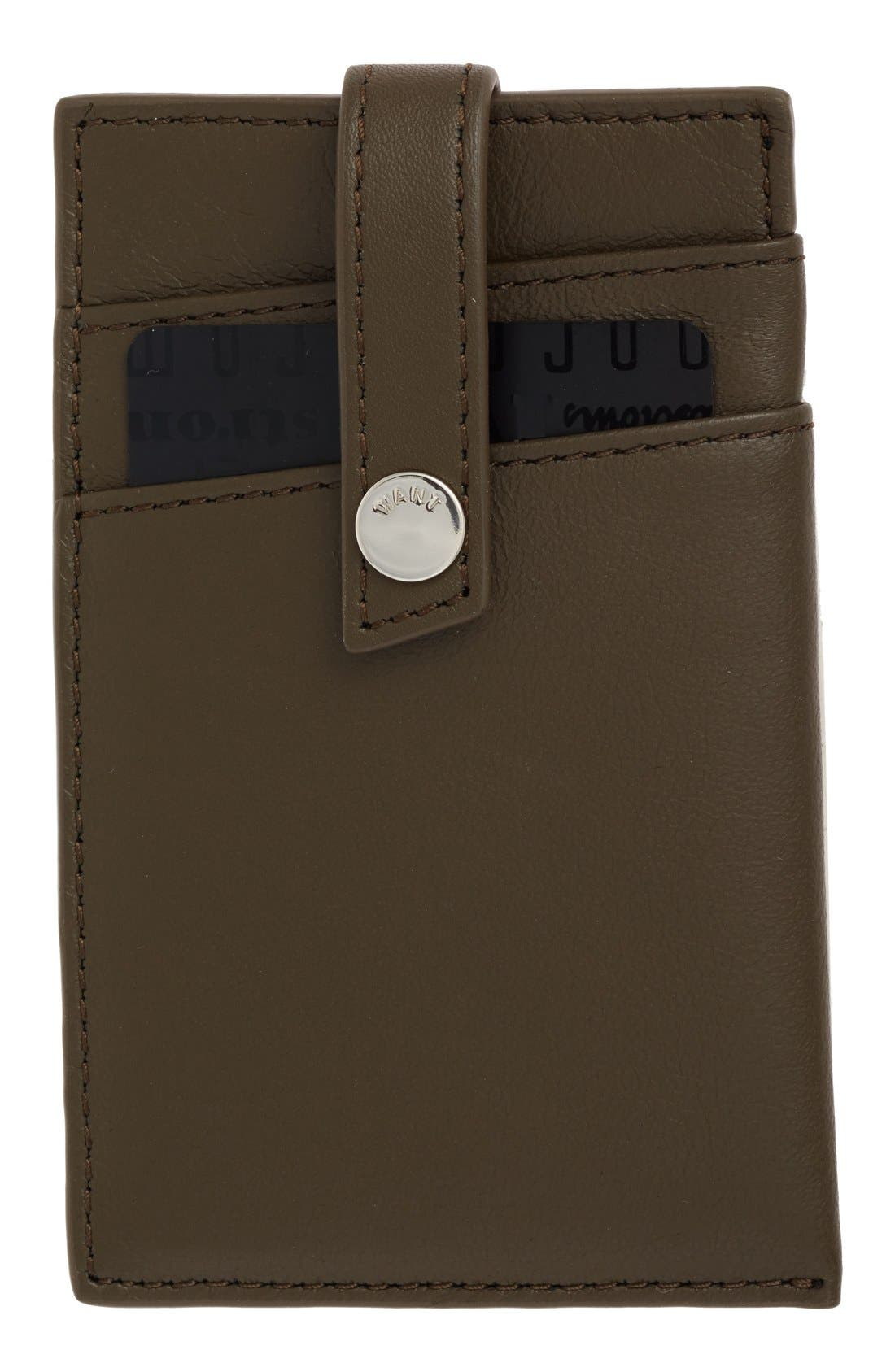 'Kennedy' Leather Money Clip Card Case,                             Main thumbnail 3, color,