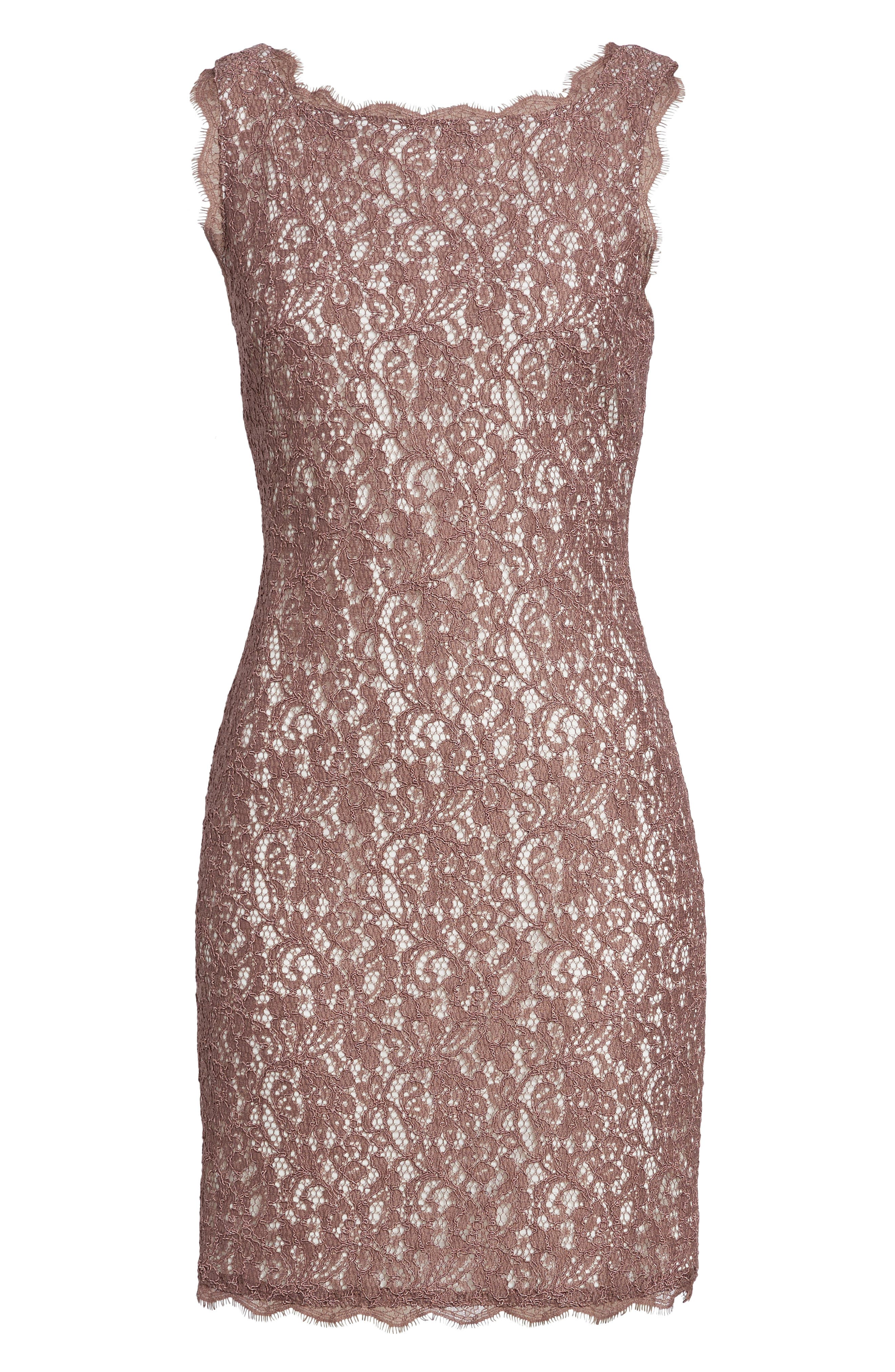 Boatneck Lace Sheath Dress,                             Alternate thumbnail 42, color,