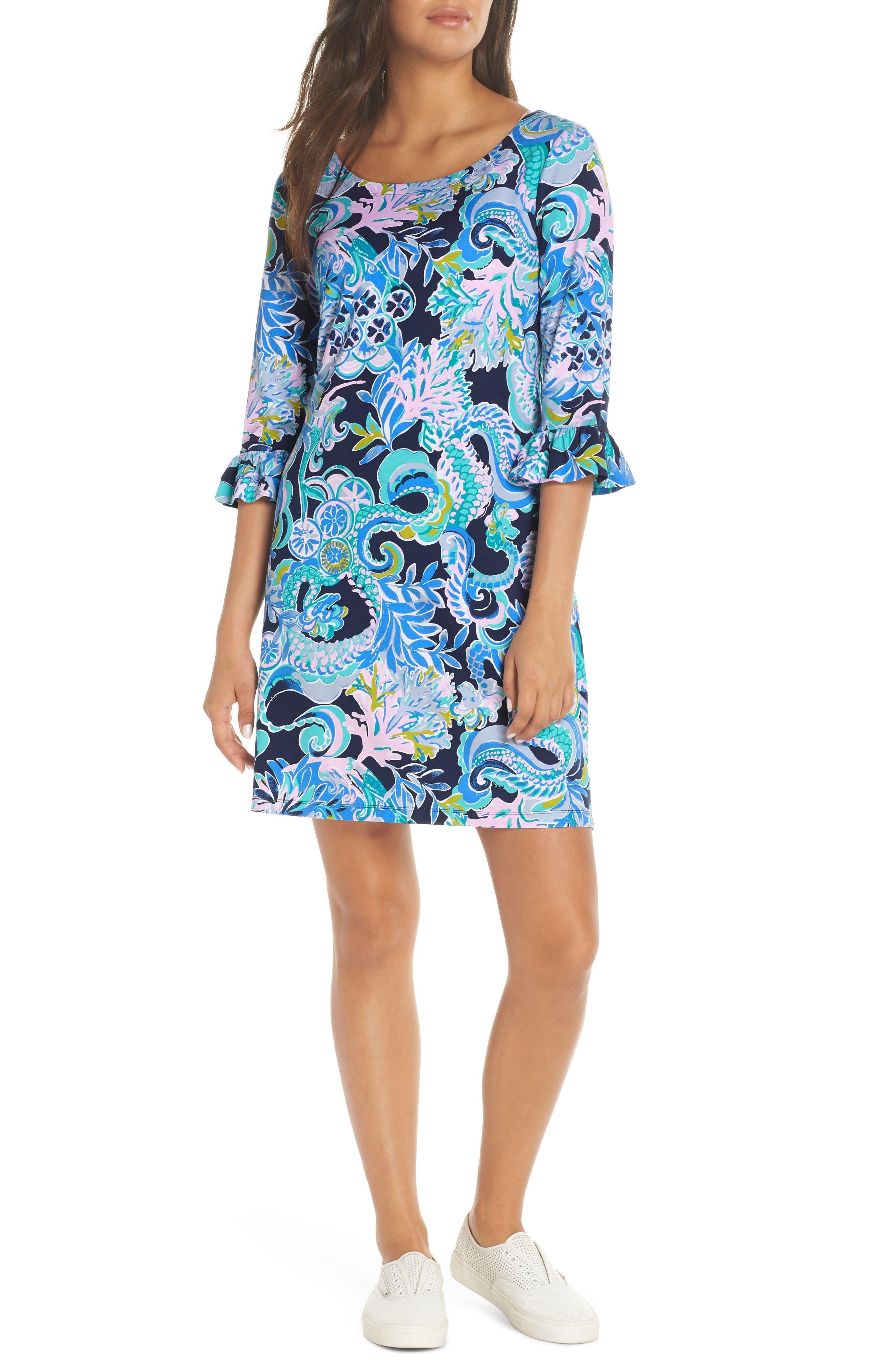 Lilly Pulitzer Sophie Upf 50+ Shift Dress, Blue