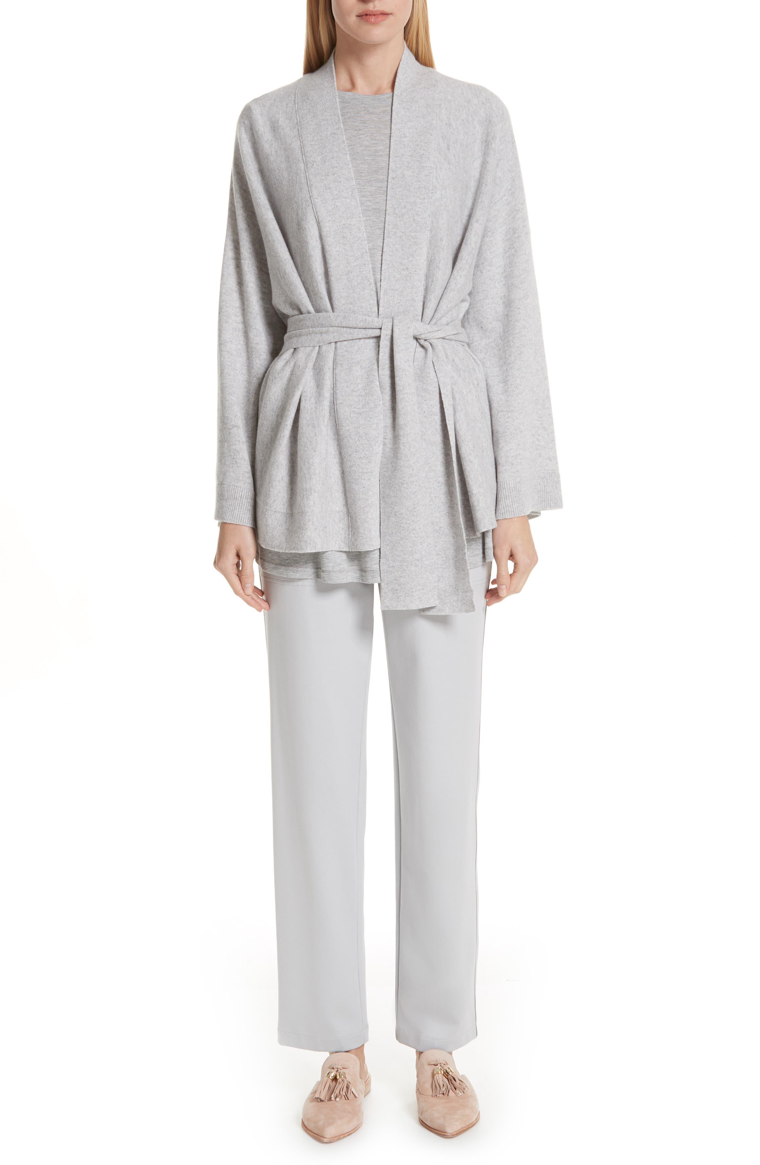 Cashmere Kimono Cardigan,                             Main thumbnail 1, color,                             GREY HEATHER