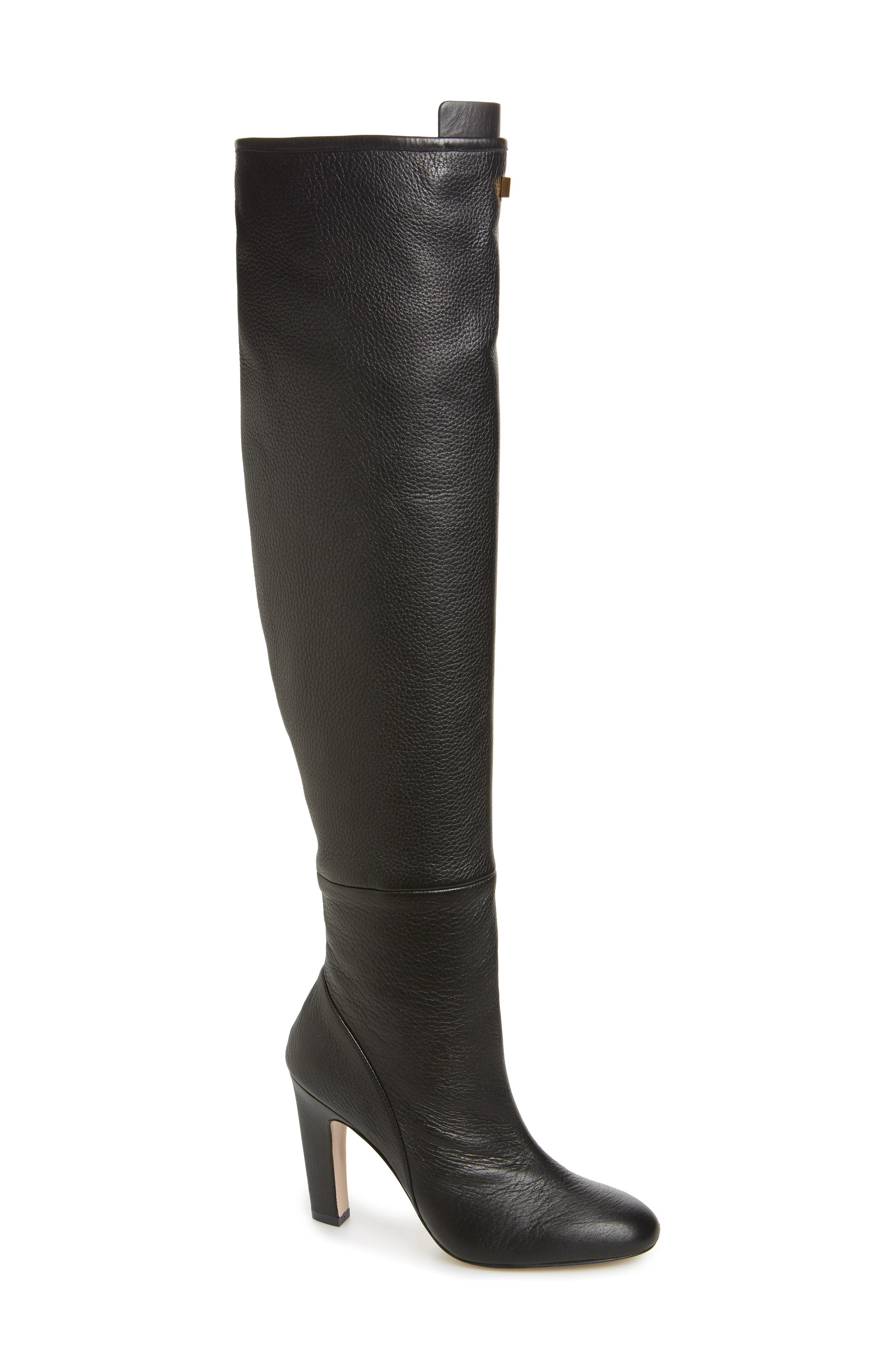 Edie Over the Knee Boot,                             Main thumbnail 1, color,                             PITCH BLACK GHENTO