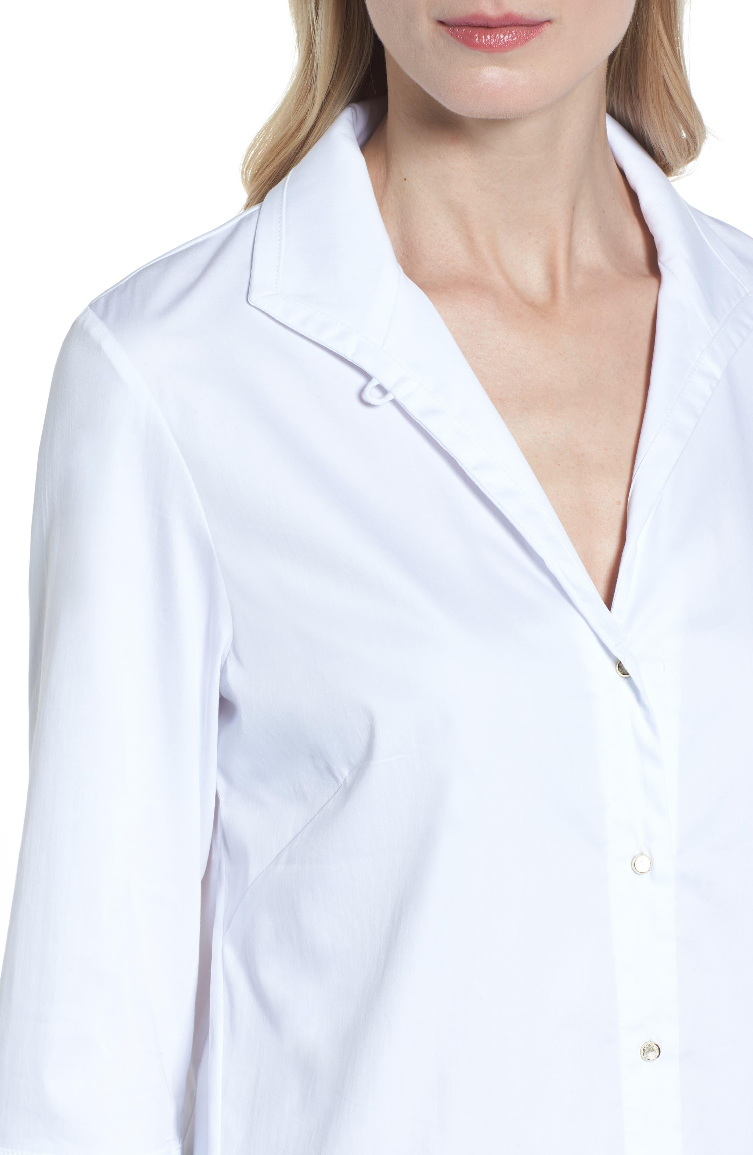 Grommet Sleeve Shirt,                             Alternate thumbnail 4, color,                             100