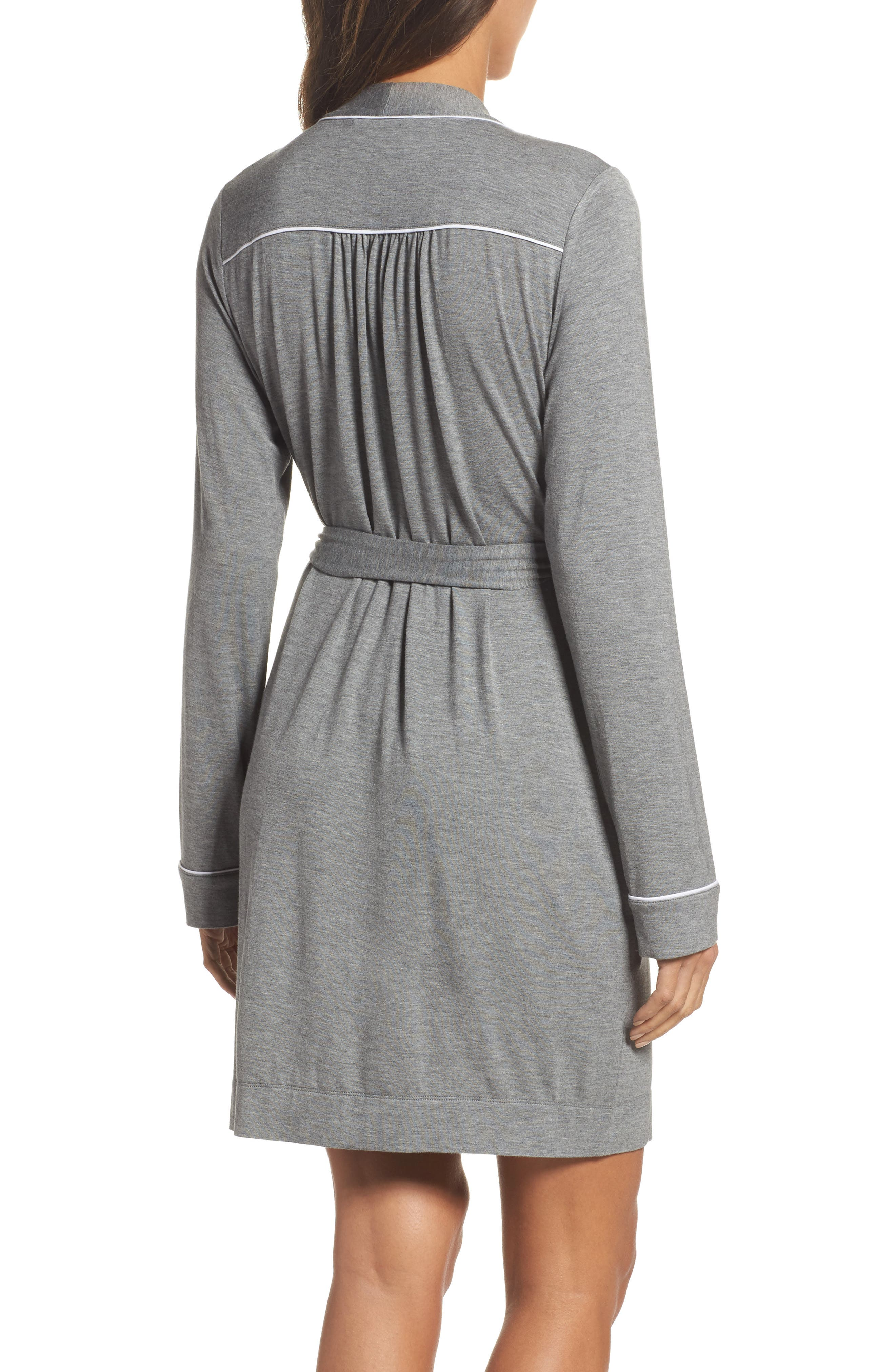 Aldridge Short Robe,                             Alternate thumbnail 2, color,                             GREY HEATHER