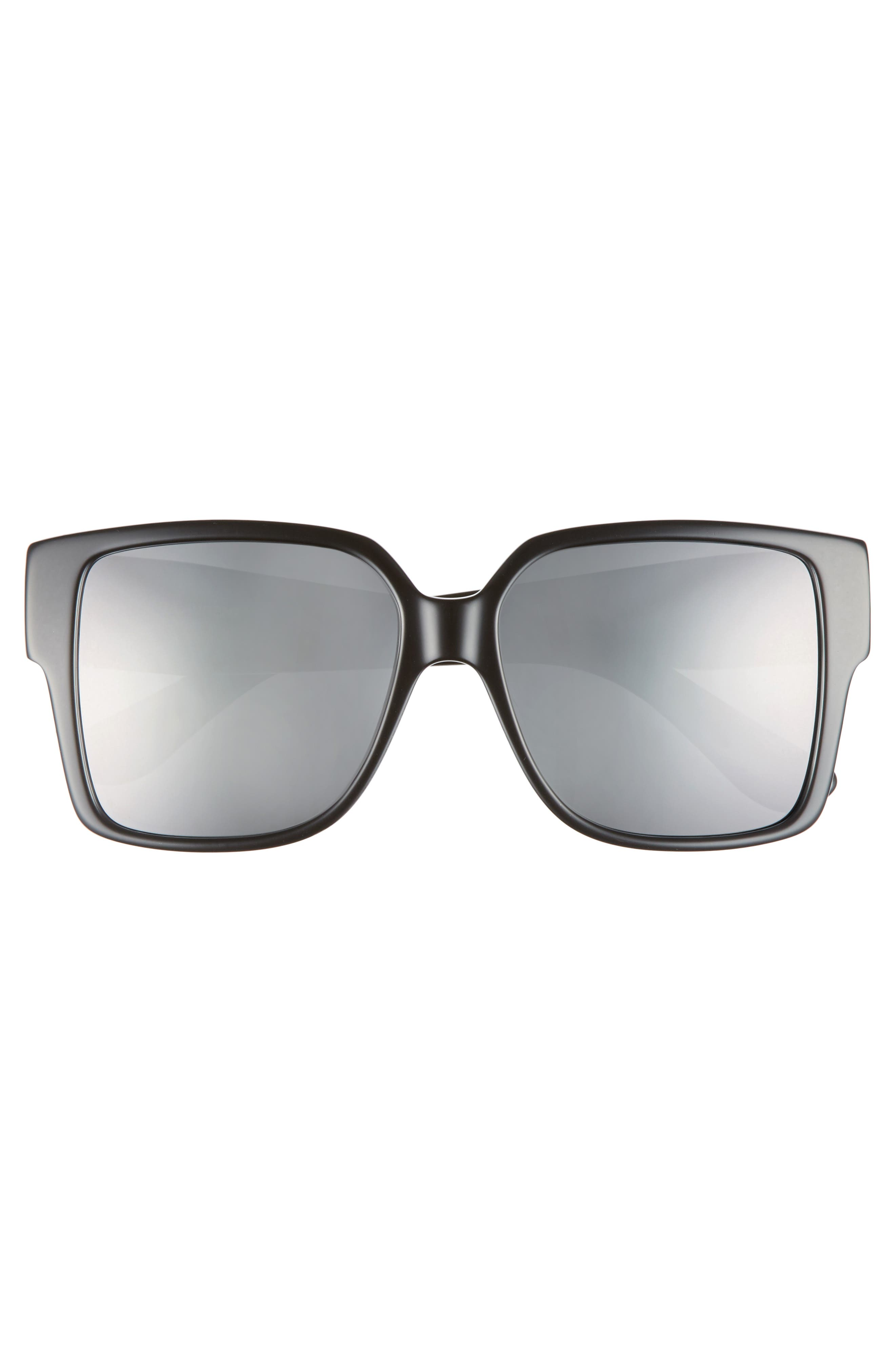 55mm Square Sunglasses,                             Alternate thumbnail 3, color,                             001