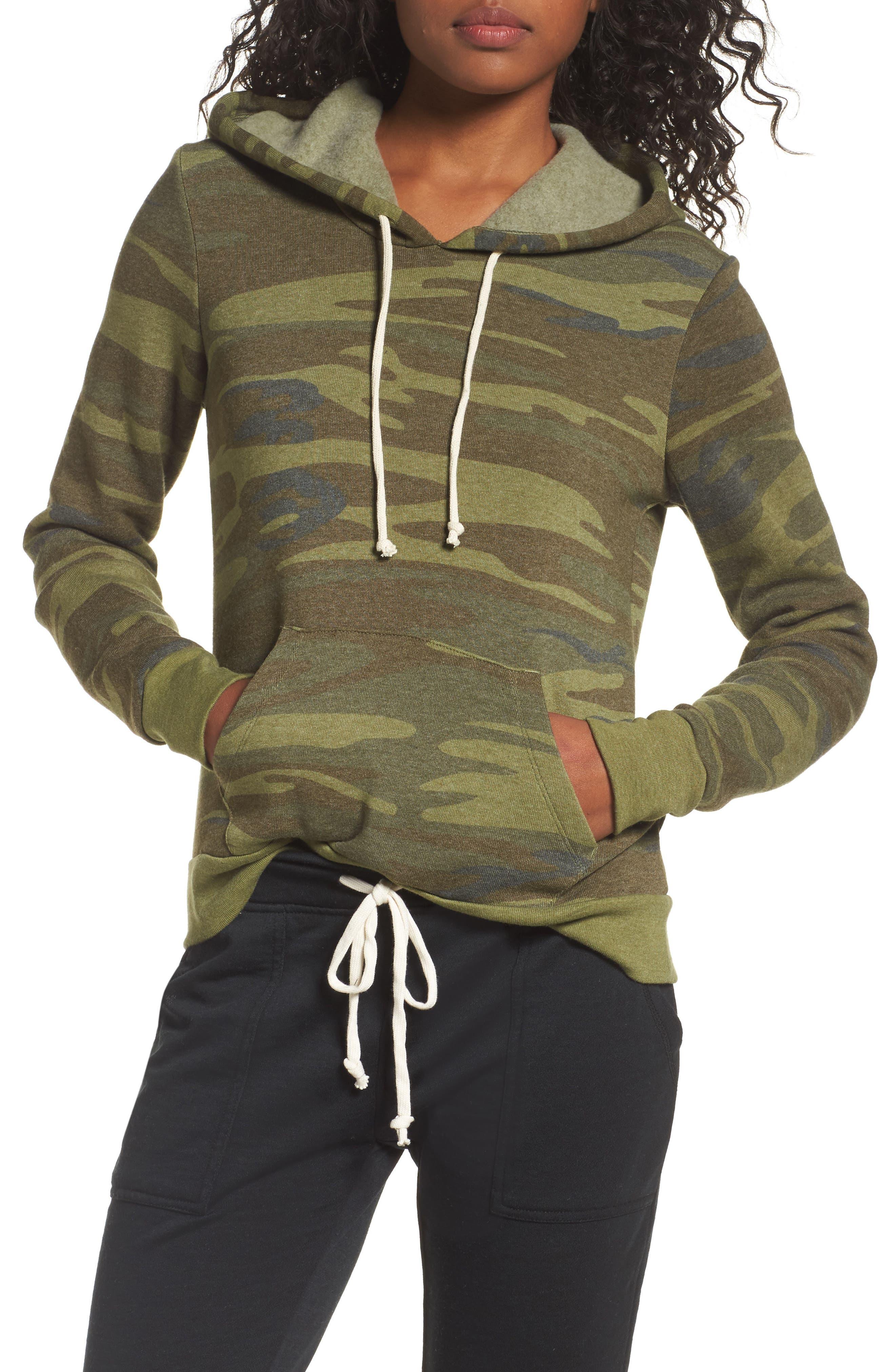 Camo Pullover Hoodie,                         Main,                         color, 300