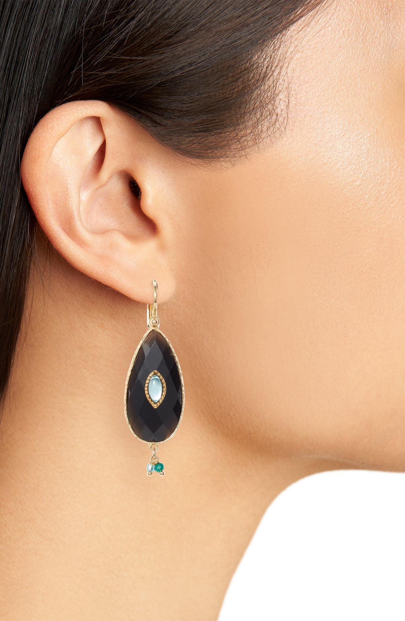 Serti Goutte Drop Earrings,                             Alternate thumbnail 2, color,                             001