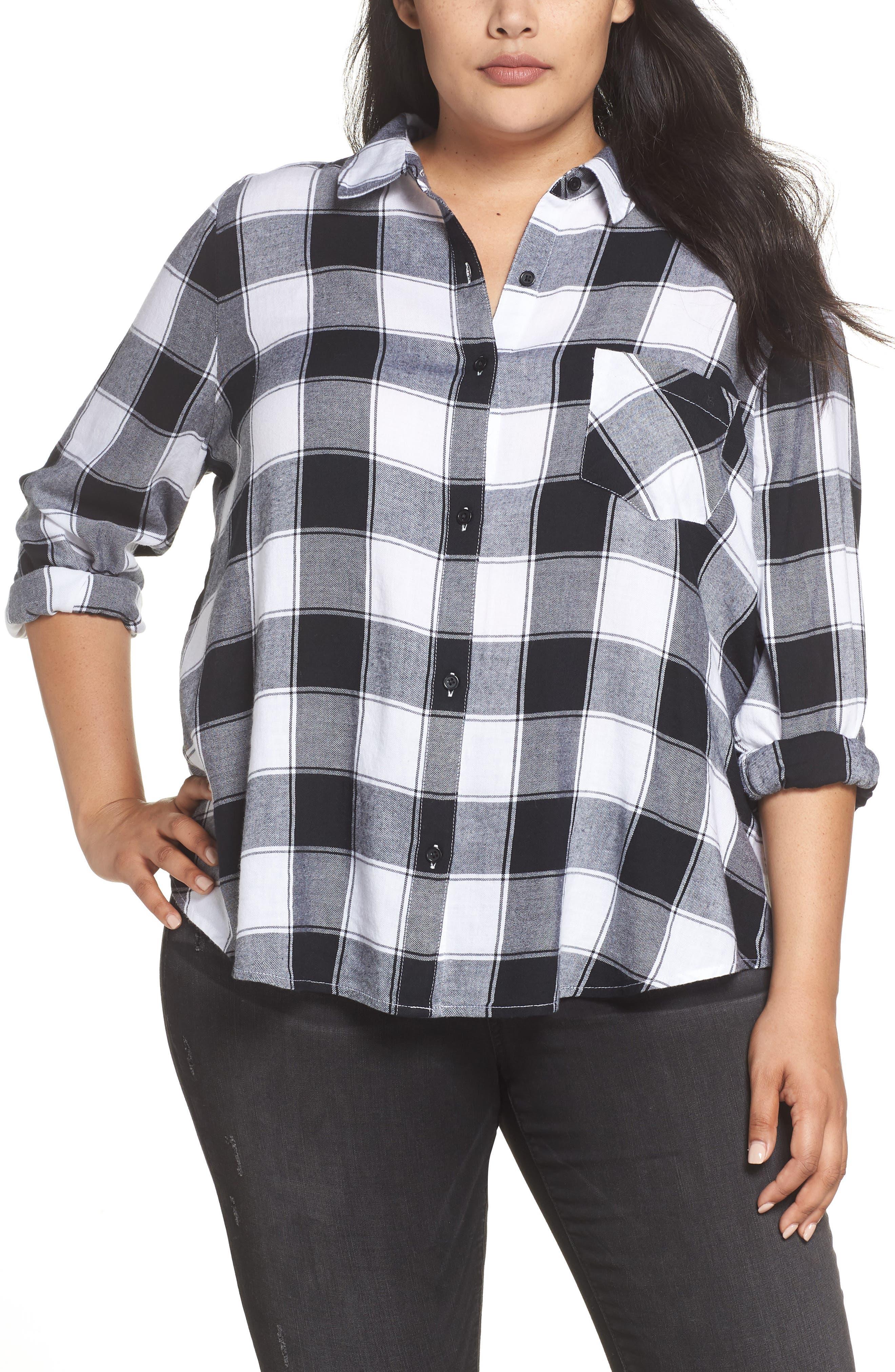 Plaid Shirt,                         Main,                         color, BLACK DALEY PLAID