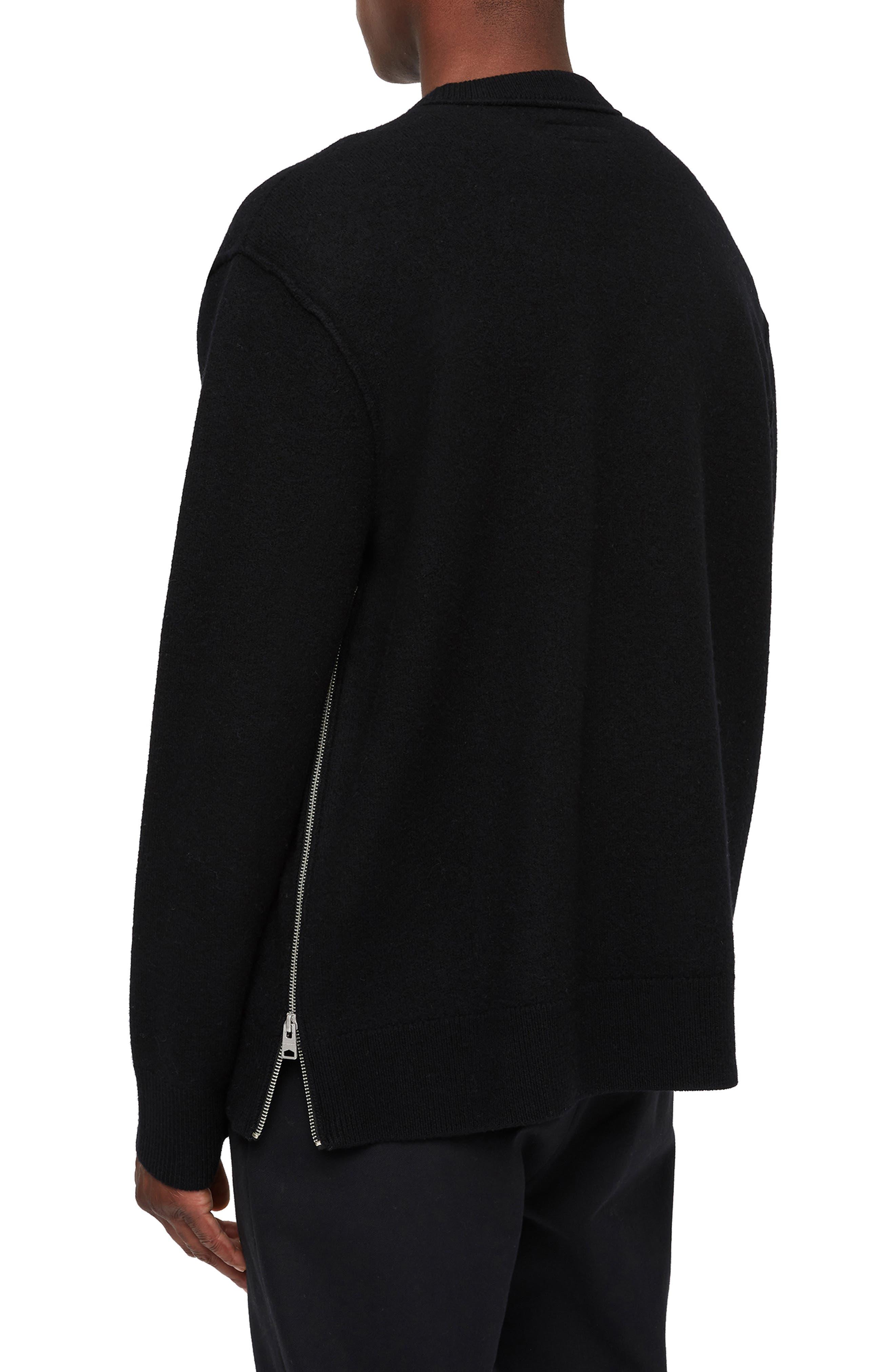 Maine Regular Fit Wool Sweater,                             Alternate thumbnail 2, color,                             BLACK