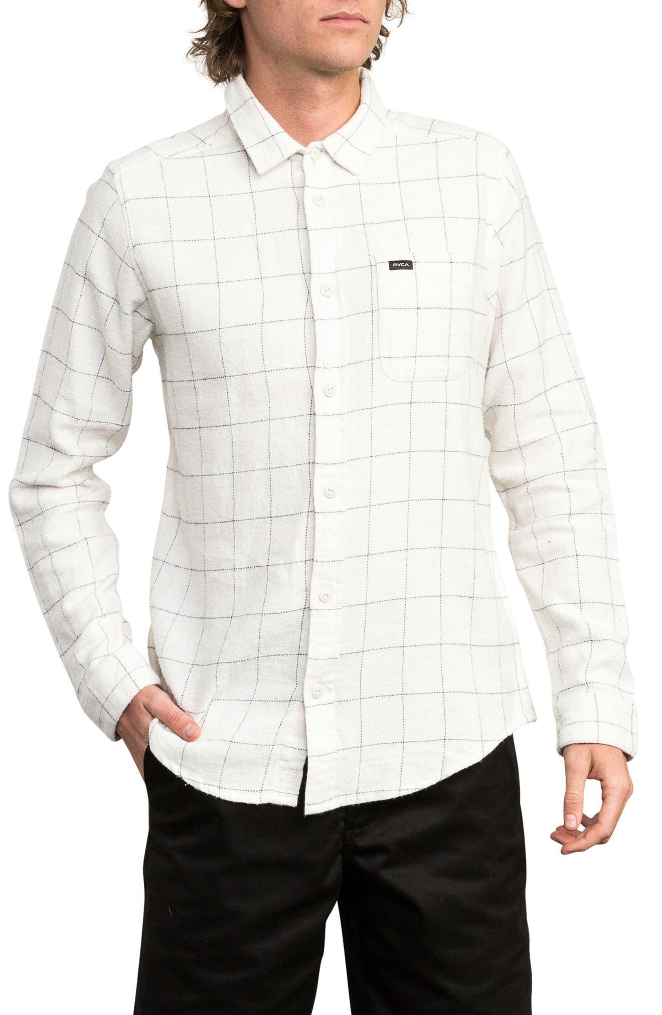 Arc Flannel Shirt,                         Main,                         color, SILVER BLEACH