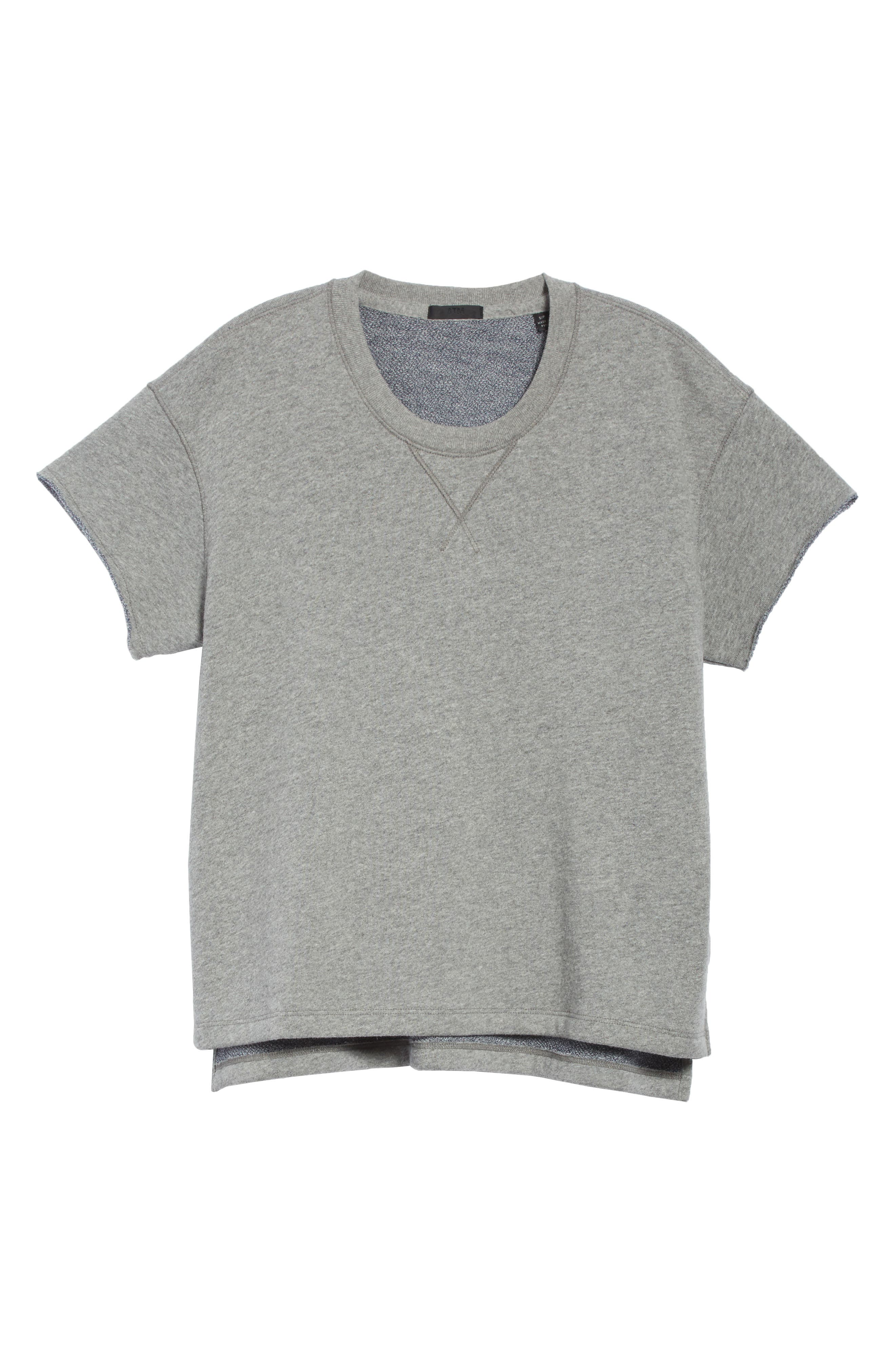 Short Sleeve Sweatshirt,                             Alternate thumbnail 6, color,