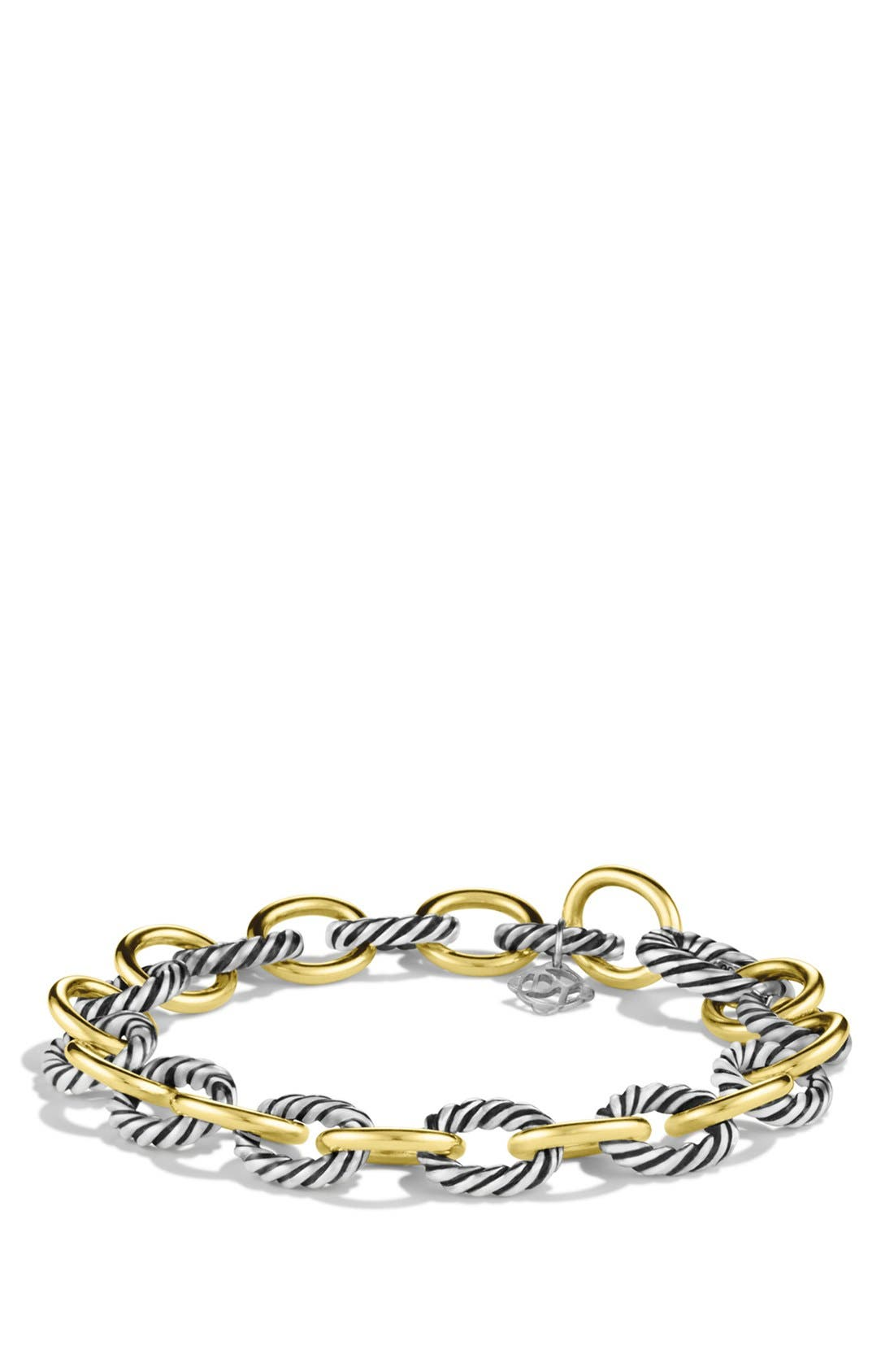 'Oval' Link Bracelet with Gold,                         Main,                         color, TWO TONE