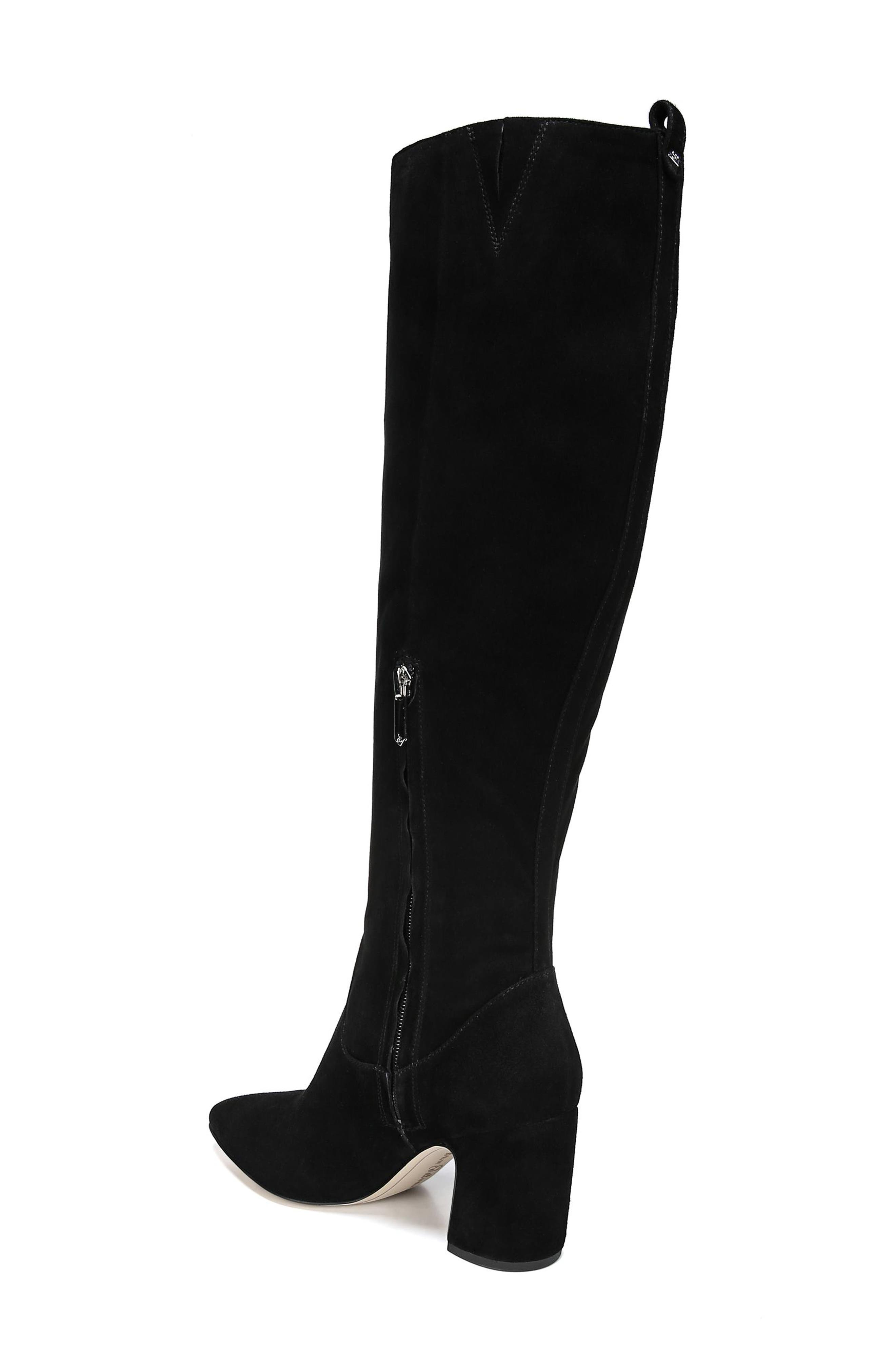 Hai Knee High Boot,                             Alternate thumbnail 2, color,                             BLACK SUEDE