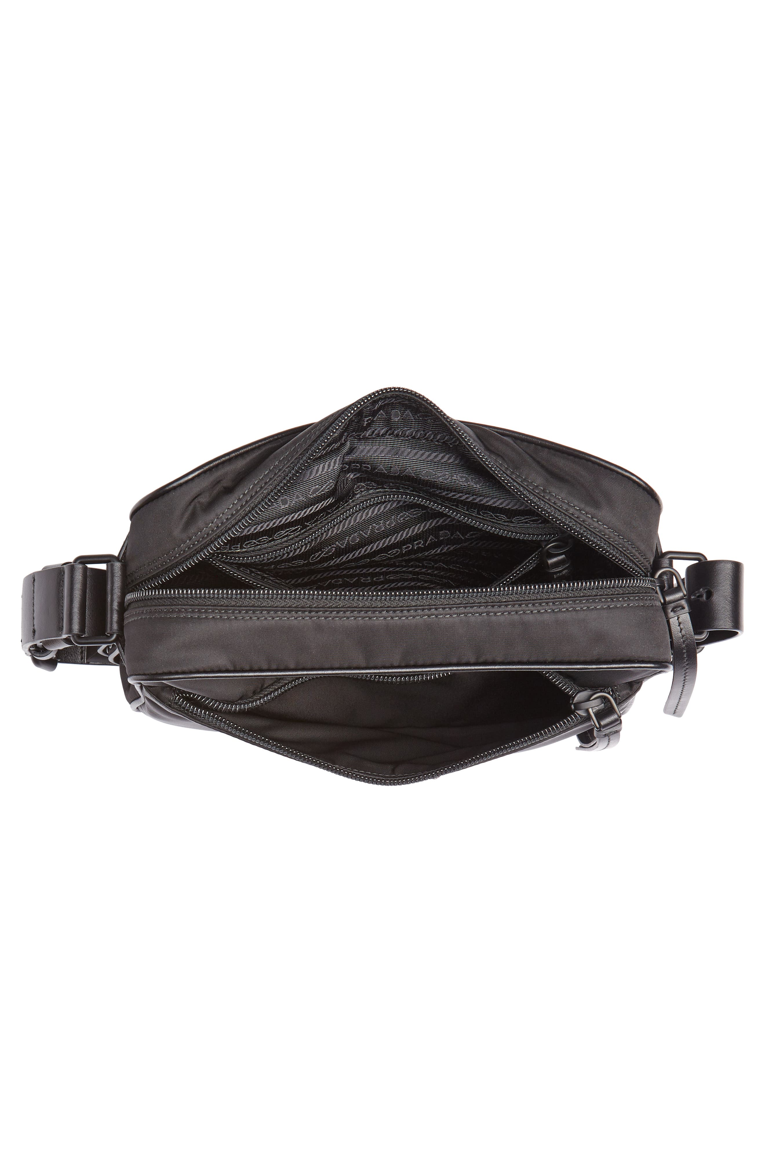 Small Nylon Camera Bag,                             Alternate thumbnail 4, color,                             F0632 NERO 1