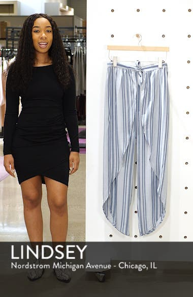 Jessa Stripe Tulip Hem Pants, sales video thumbnail