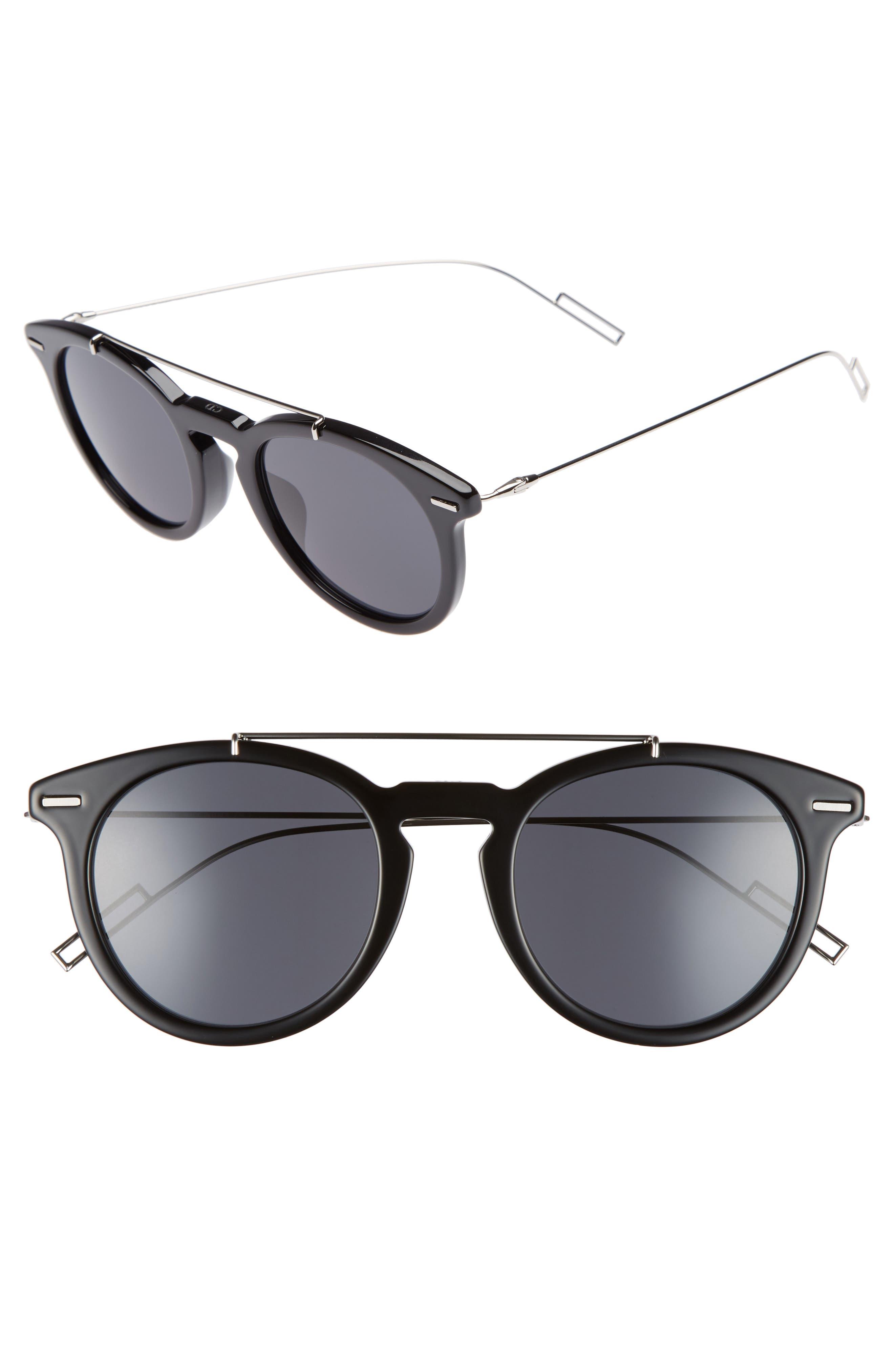 Master 51mm Sunglasses,                         Main,                         color, BLACK