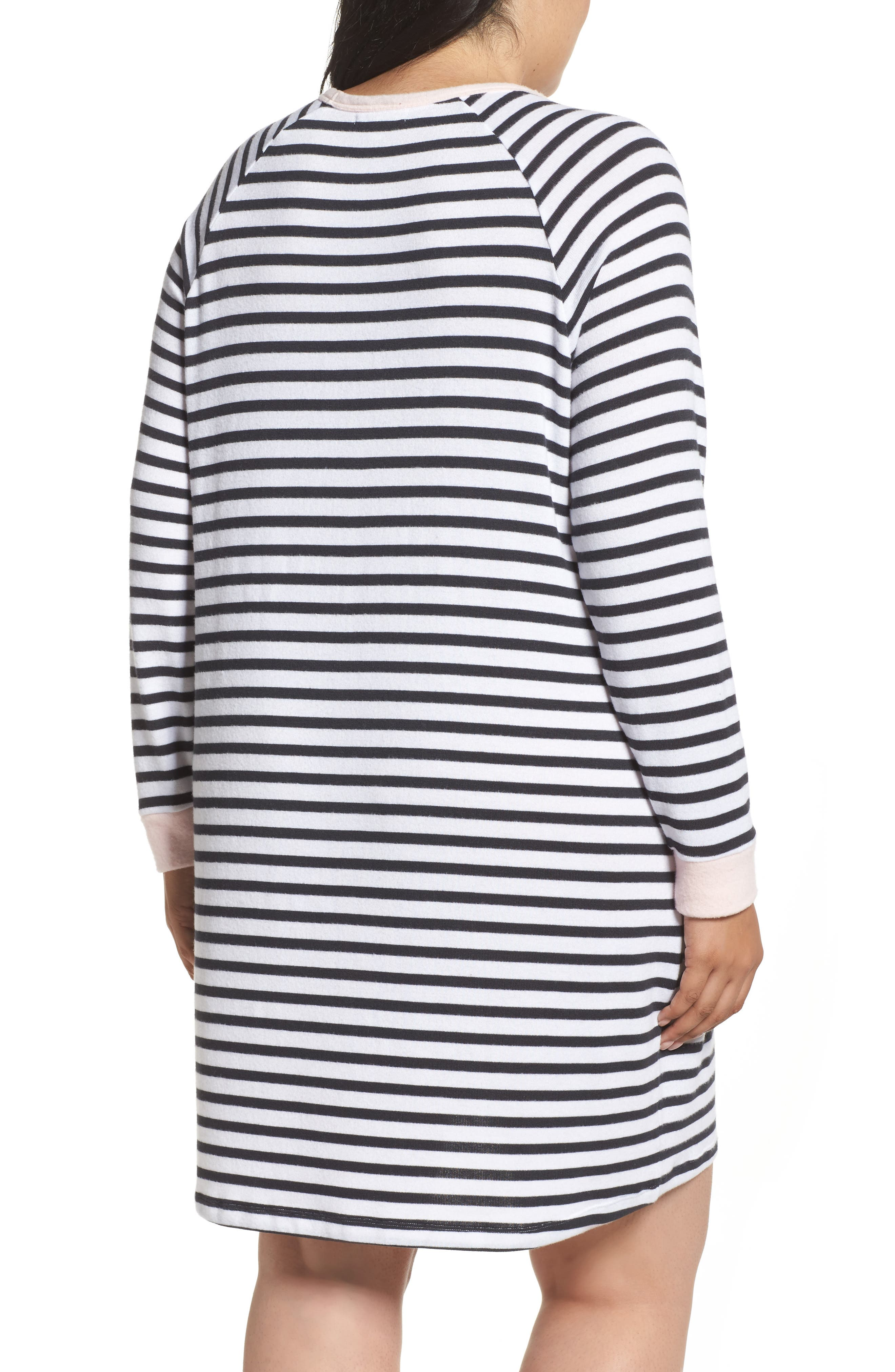 Stripe Peachy Jersey Nightshirt,                             Alternate thumbnail 2, color,                             900