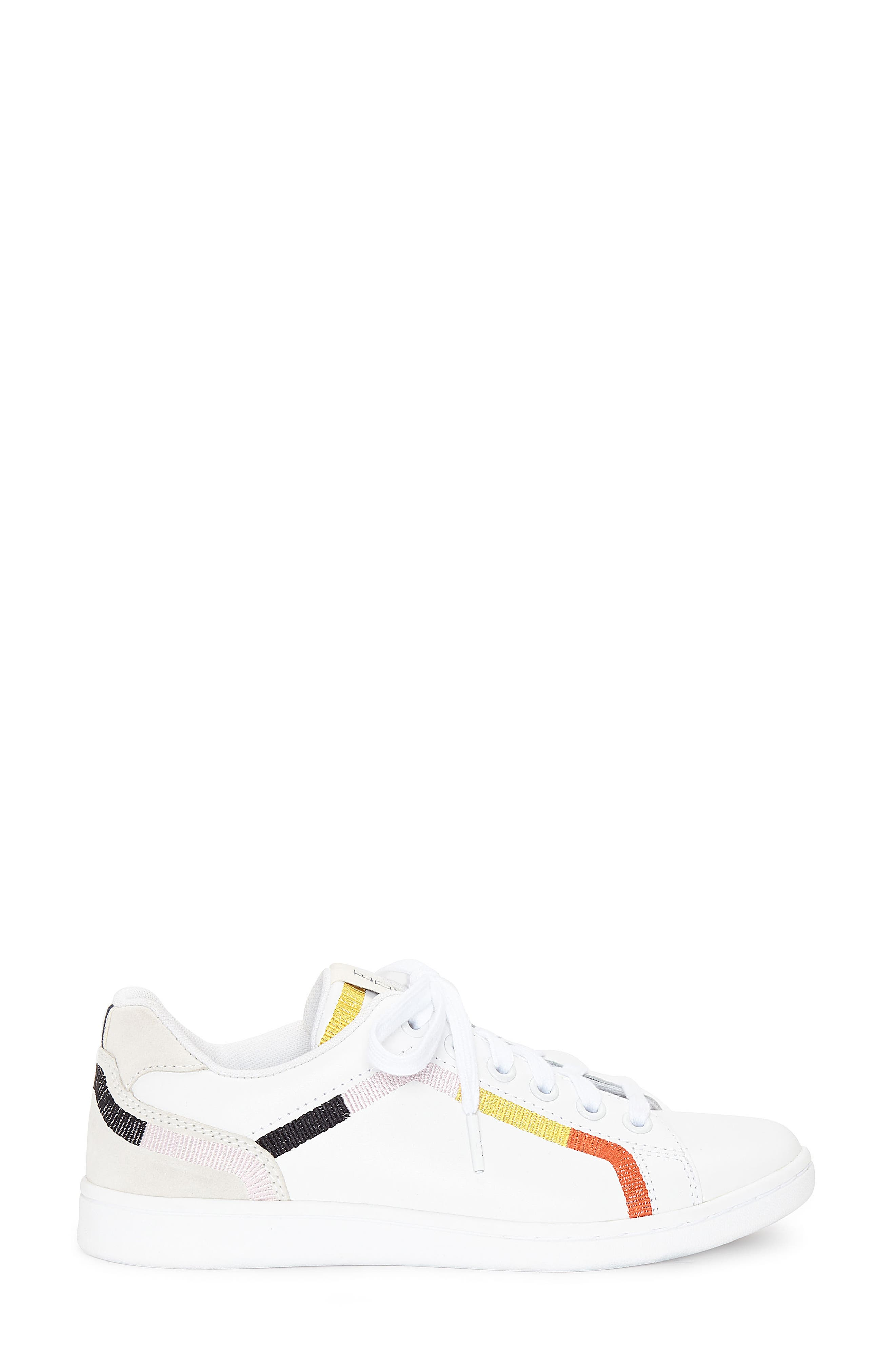 Costella Sneaker,                             Alternate thumbnail 3, color,                             PURE WHITE LEATHER