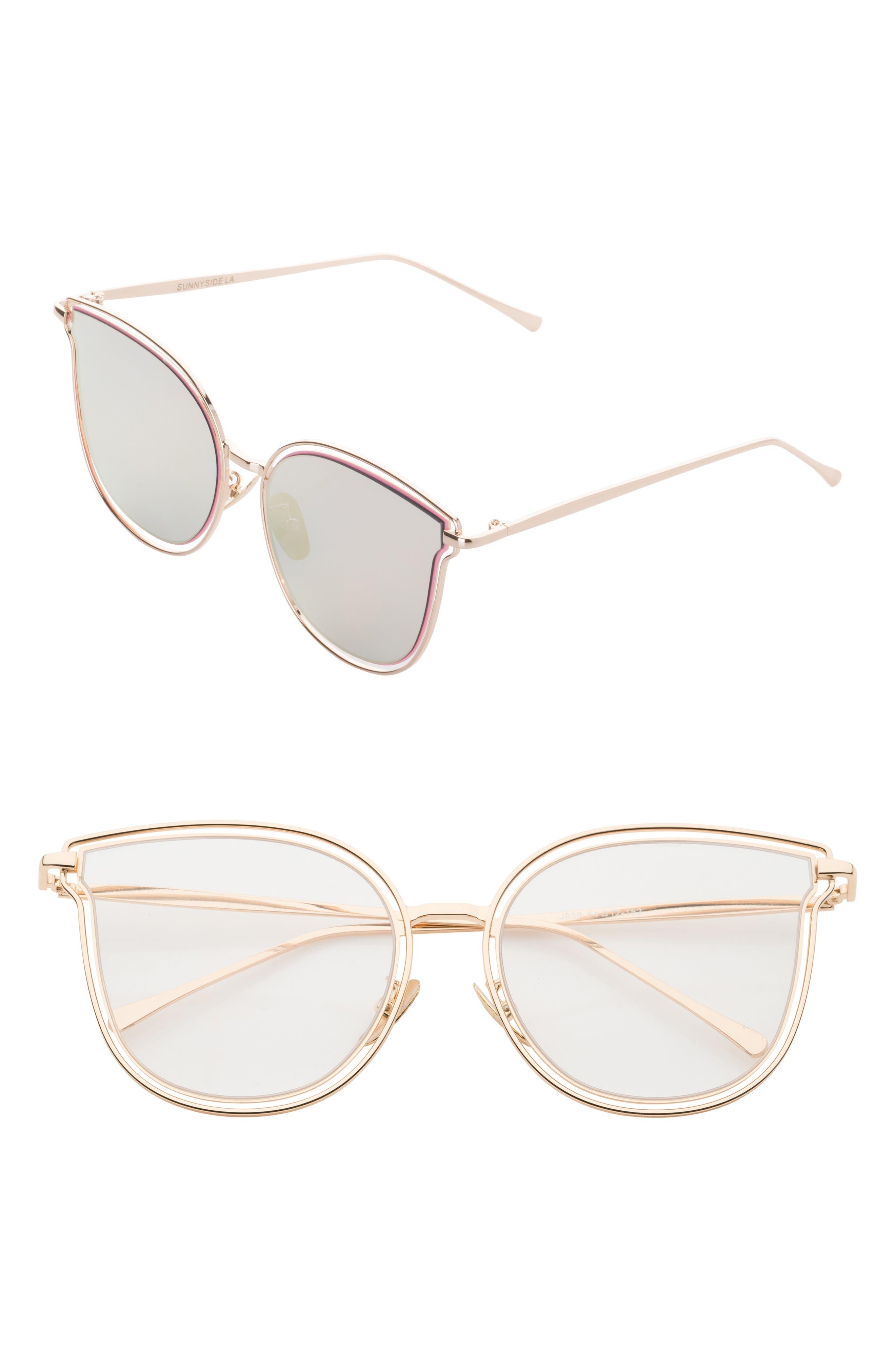 54mm Cat Eye Clear Glasses,                             Main thumbnail 1, color,                             710