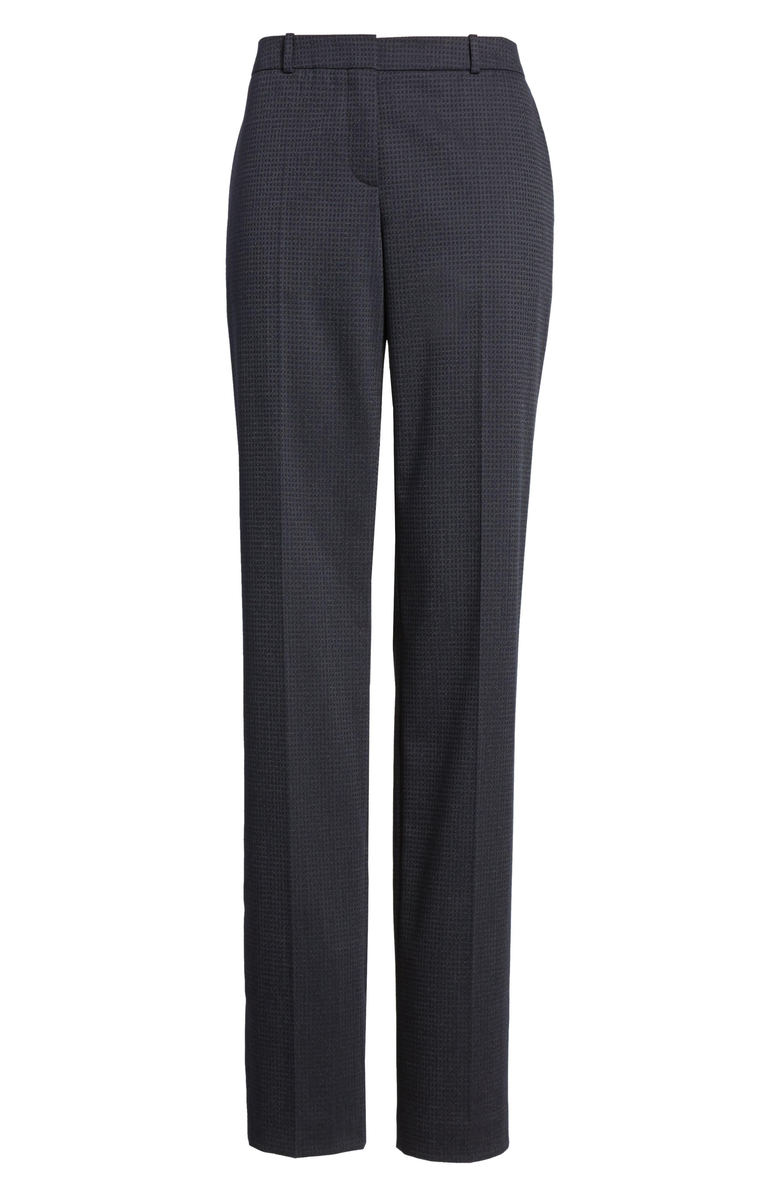 Tamea Stretch Wool Straight Leg Trousers,                             Alternate thumbnail 6, color,                             461