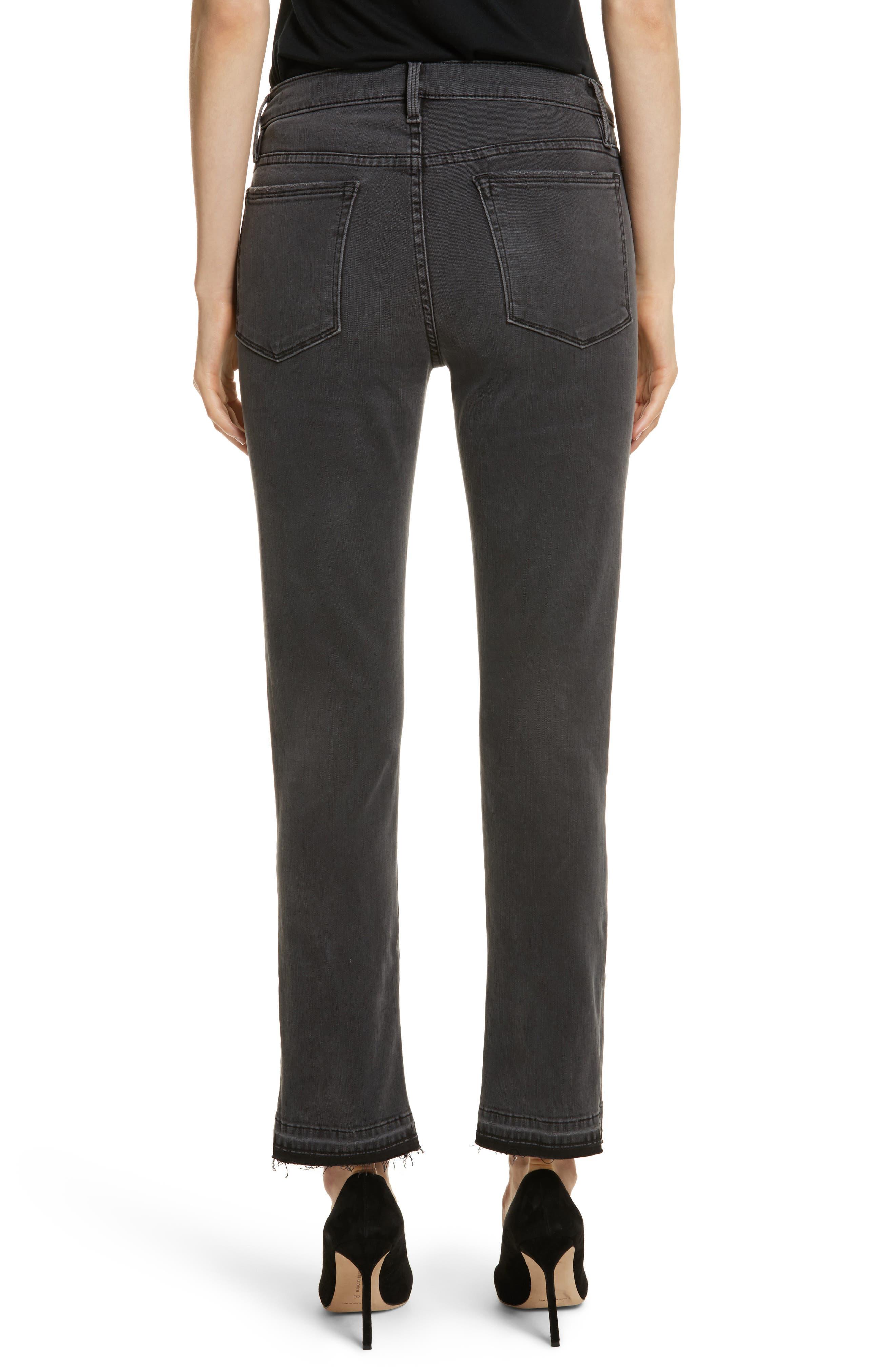 Le Nouveau Straight Split Hem Skinny Jeans,                             Alternate thumbnail 2, color,                             020