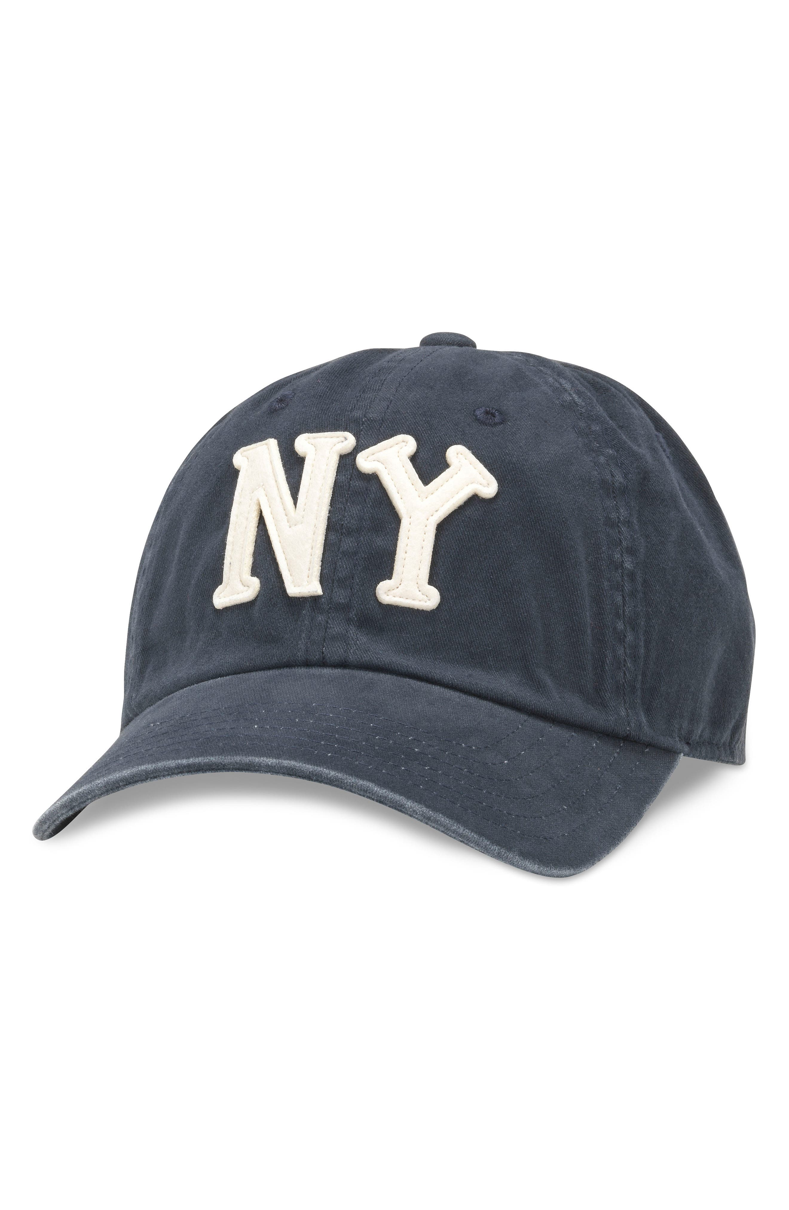 New York Archive Ball Cap, Main, color, BLUE