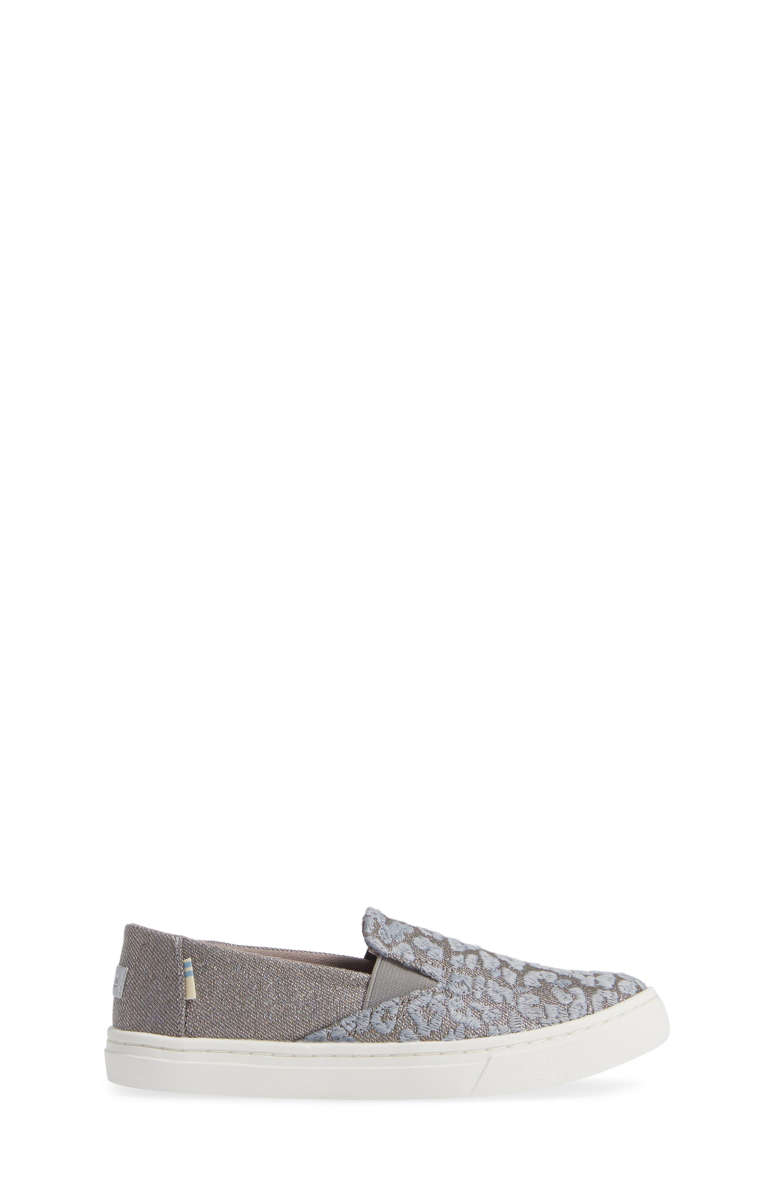 Luca Slip-On Sneaker,                             Alternate thumbnail 3, color,                             NEUTRAL GRAY CHEETAH/ TWILL