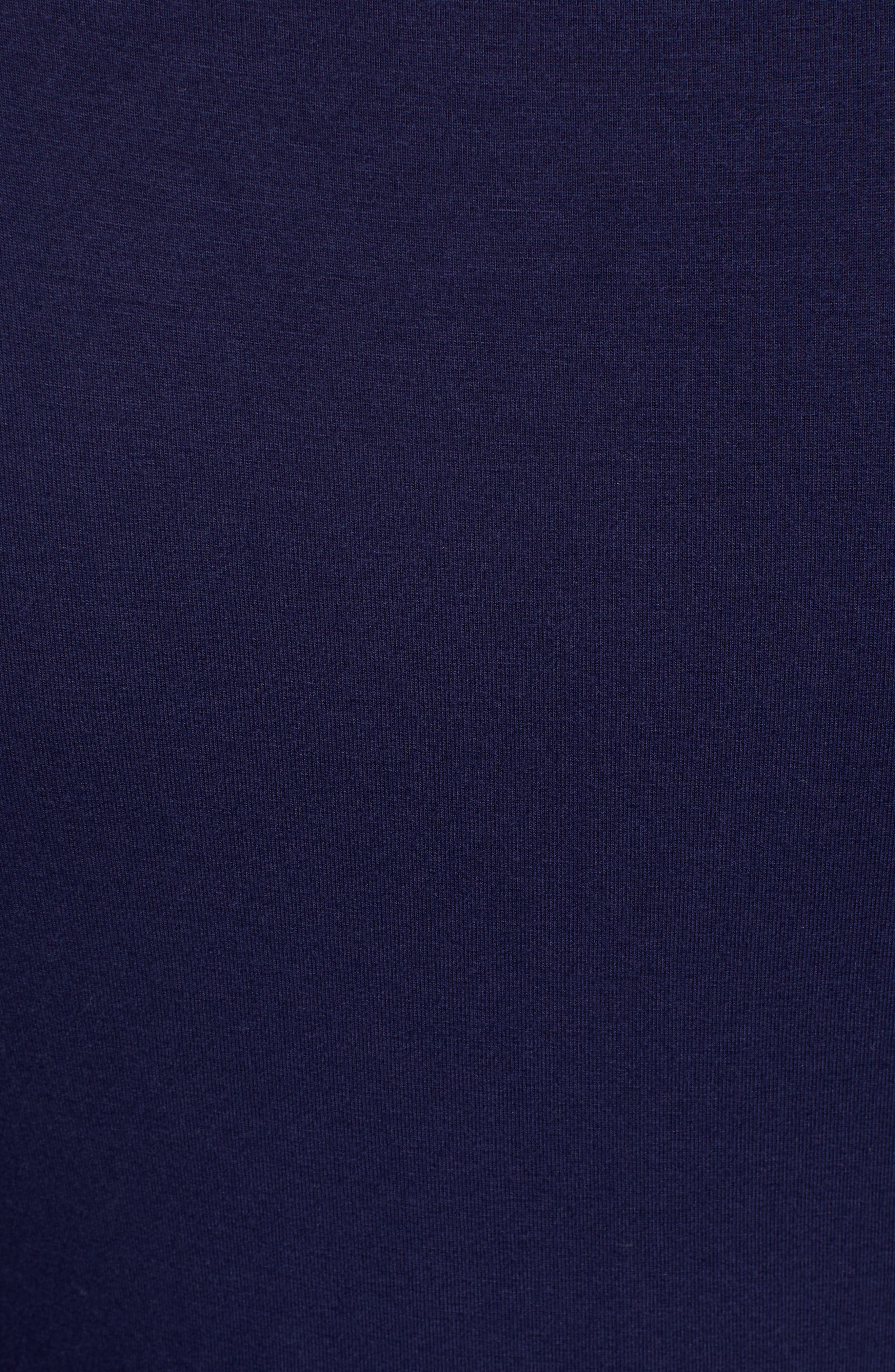 Side Ruched Turtleneck Dress,                             Alternate thumbnail 6, color,                             NAVY PEACOAT