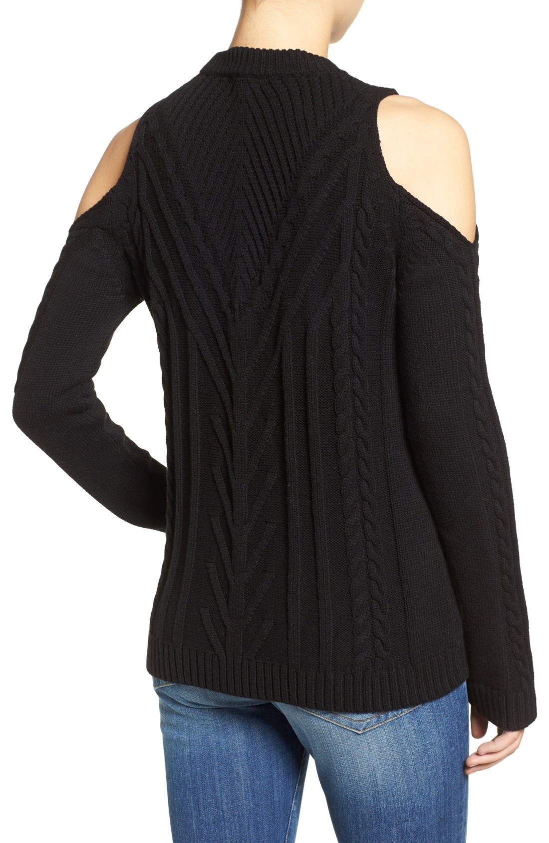 Cold Shoulder Sweater,                             Alternate thumbnail 3, color,                             006